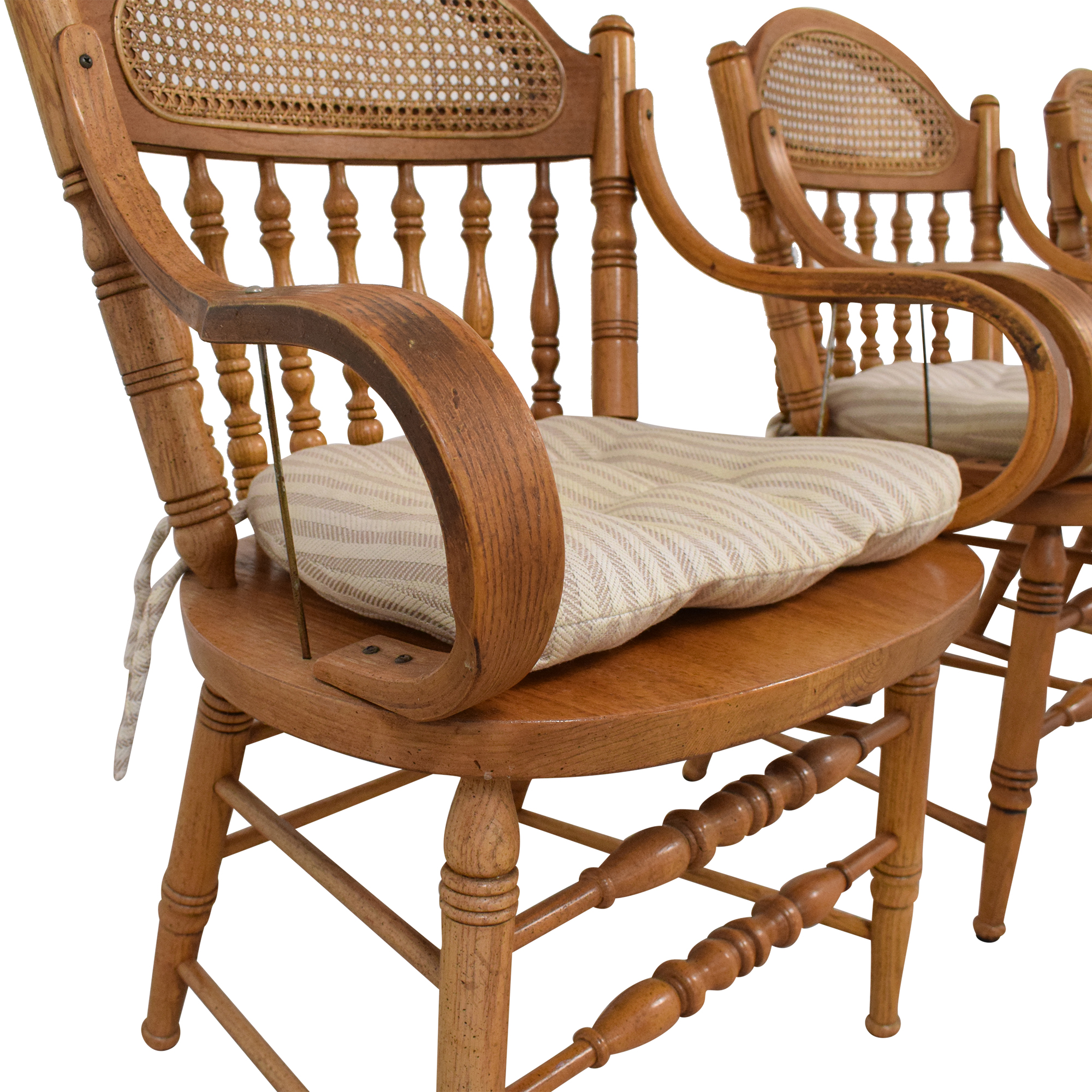 Oak Dining Arm Chairs with Cushions price