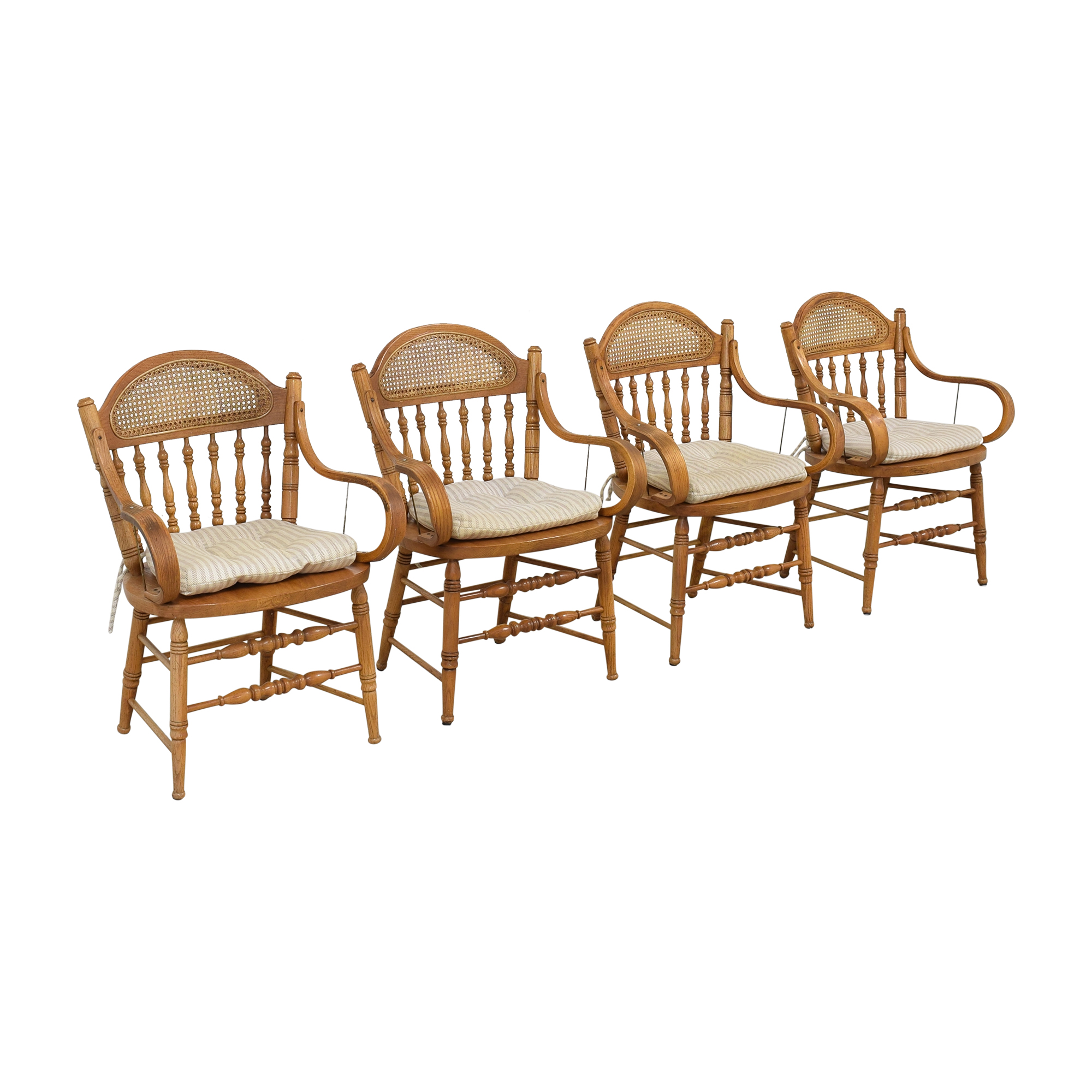 Oak Dining Arm Chairs with Cushions Chairs