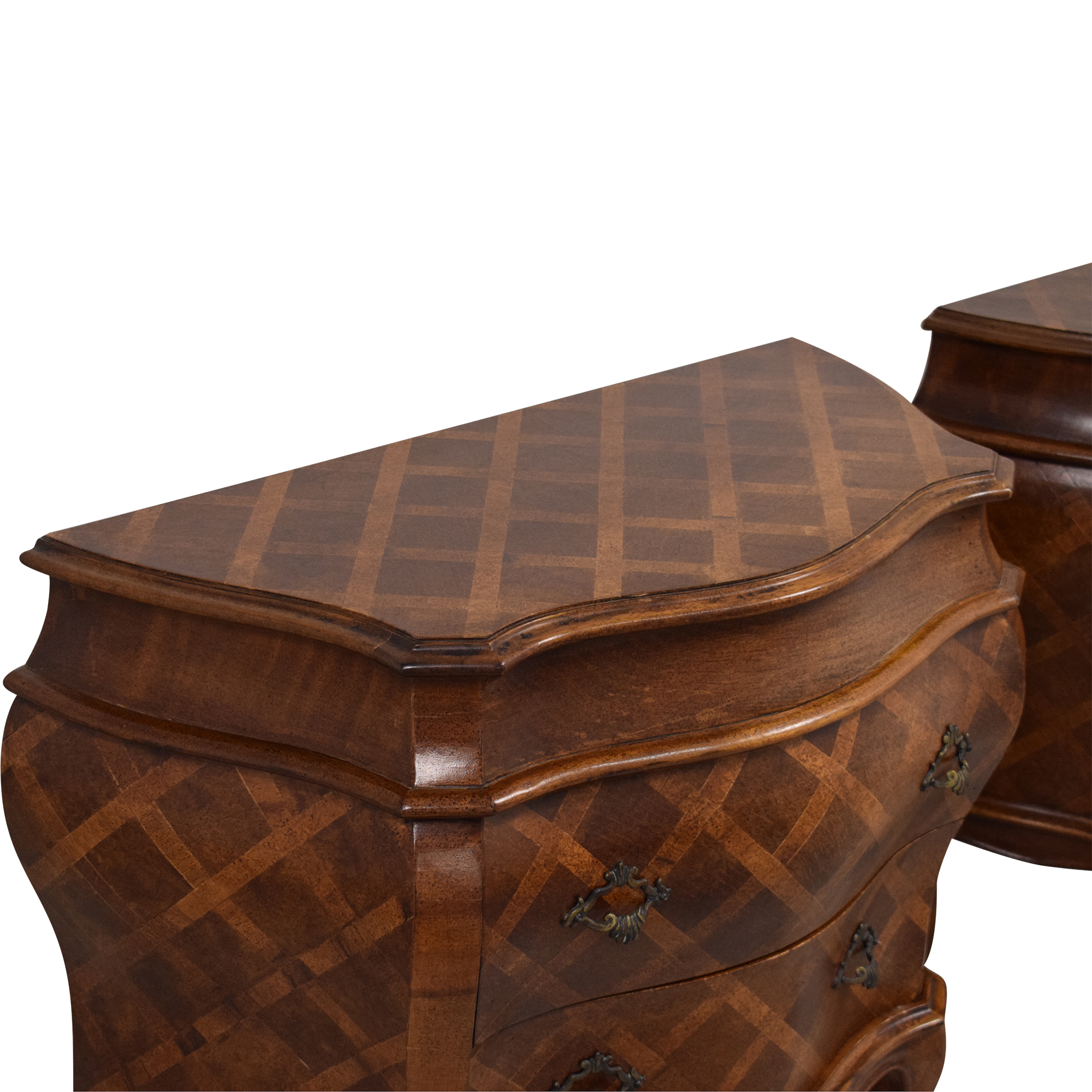 French Style Bombe Shaped End Tables ct