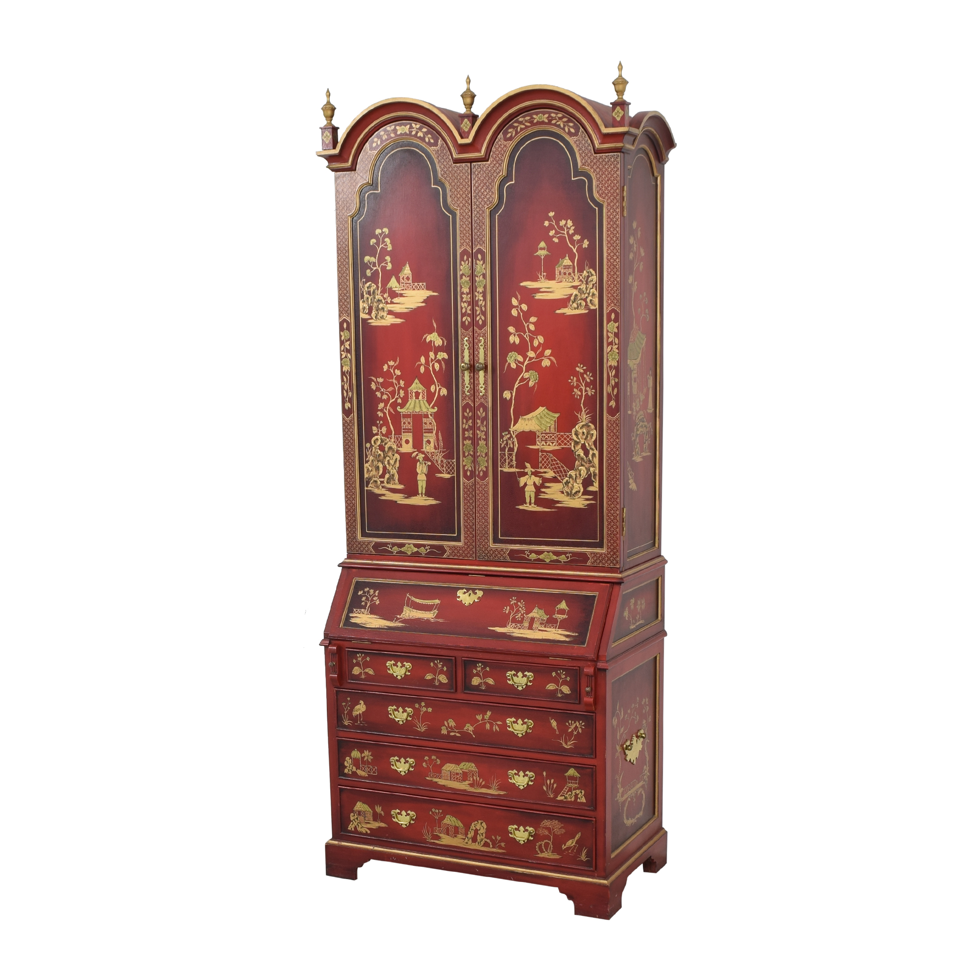 French Chinoiserie Secretaire Desk pa
