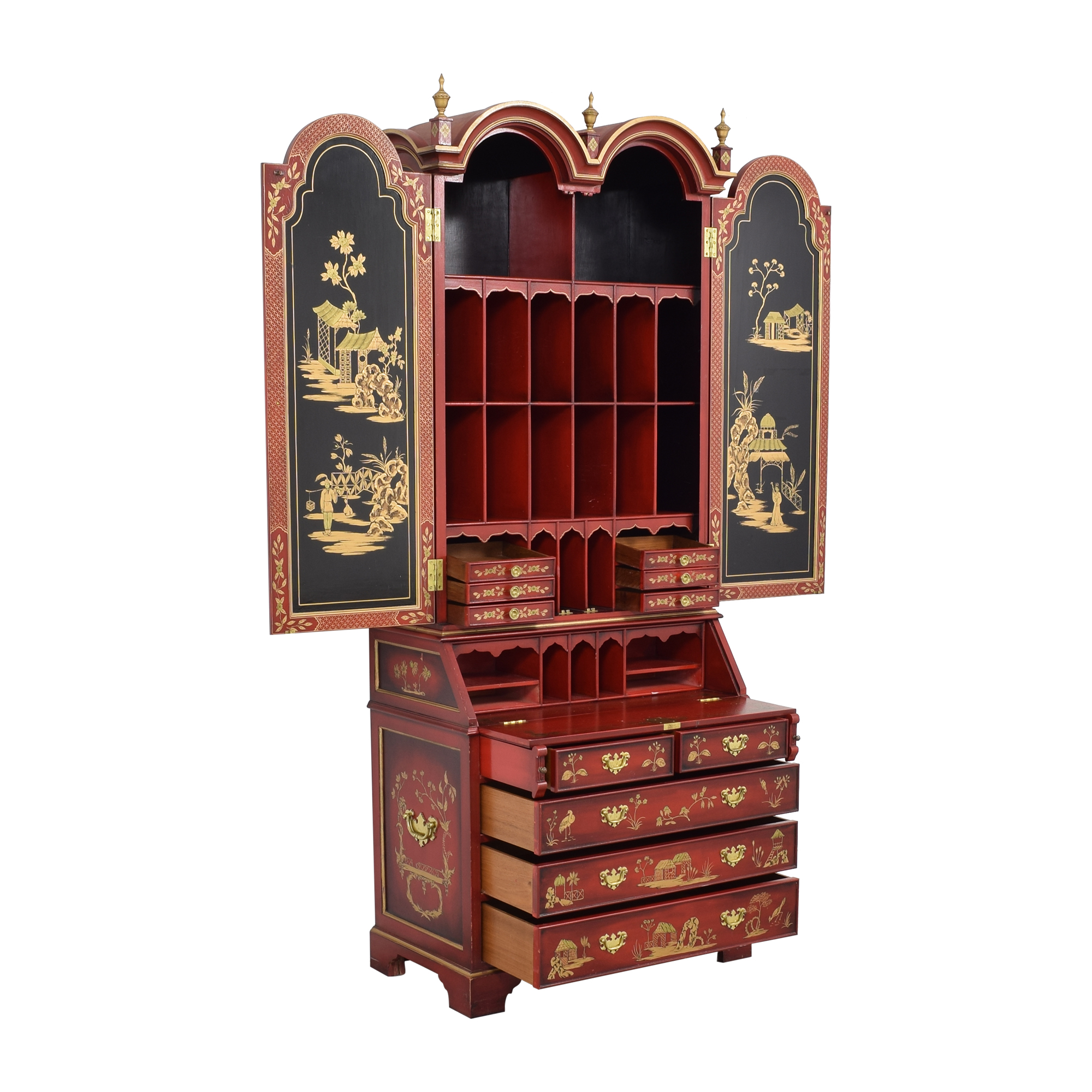 French Chinoiserie Secretaire Desk