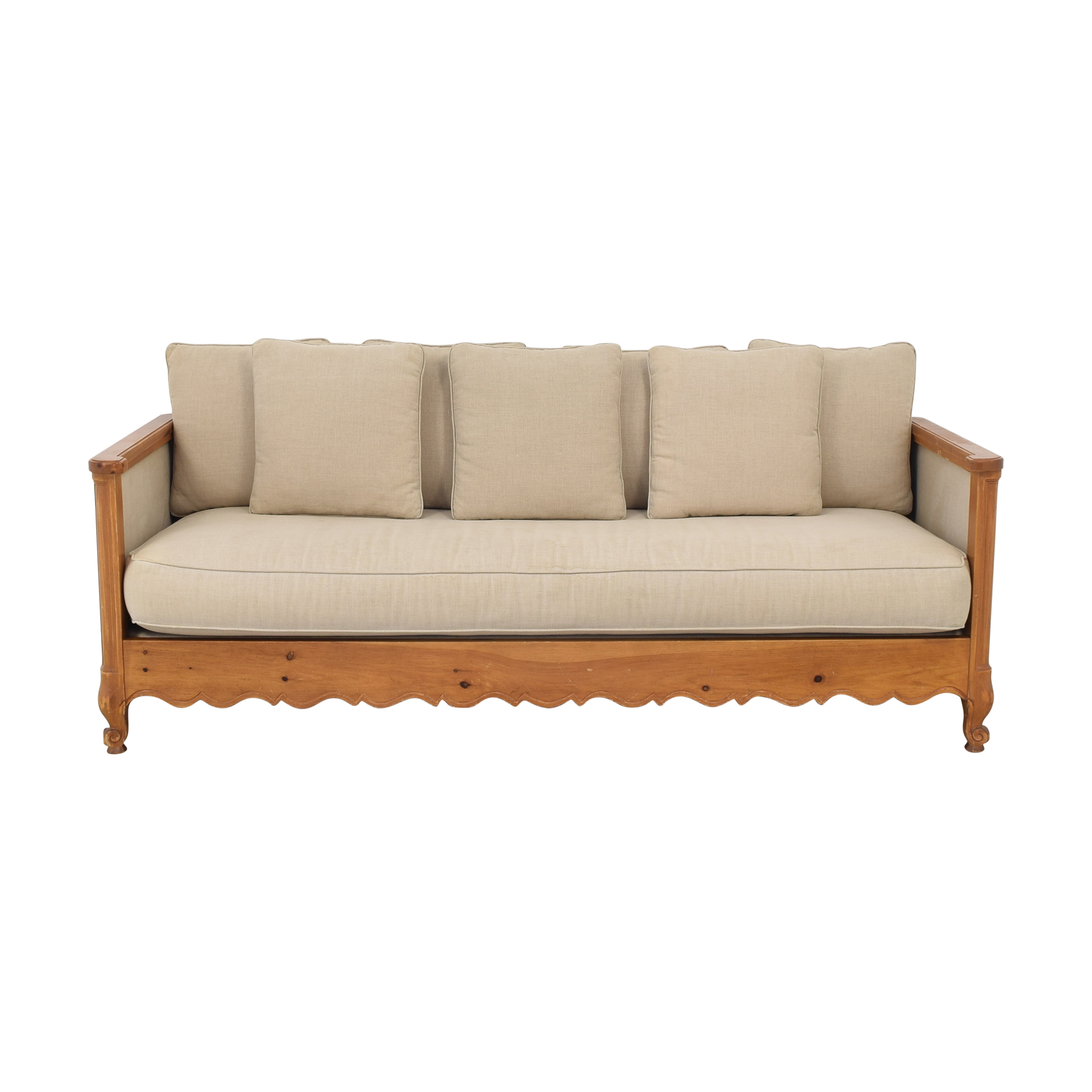 Wood Frame Sofa on sale