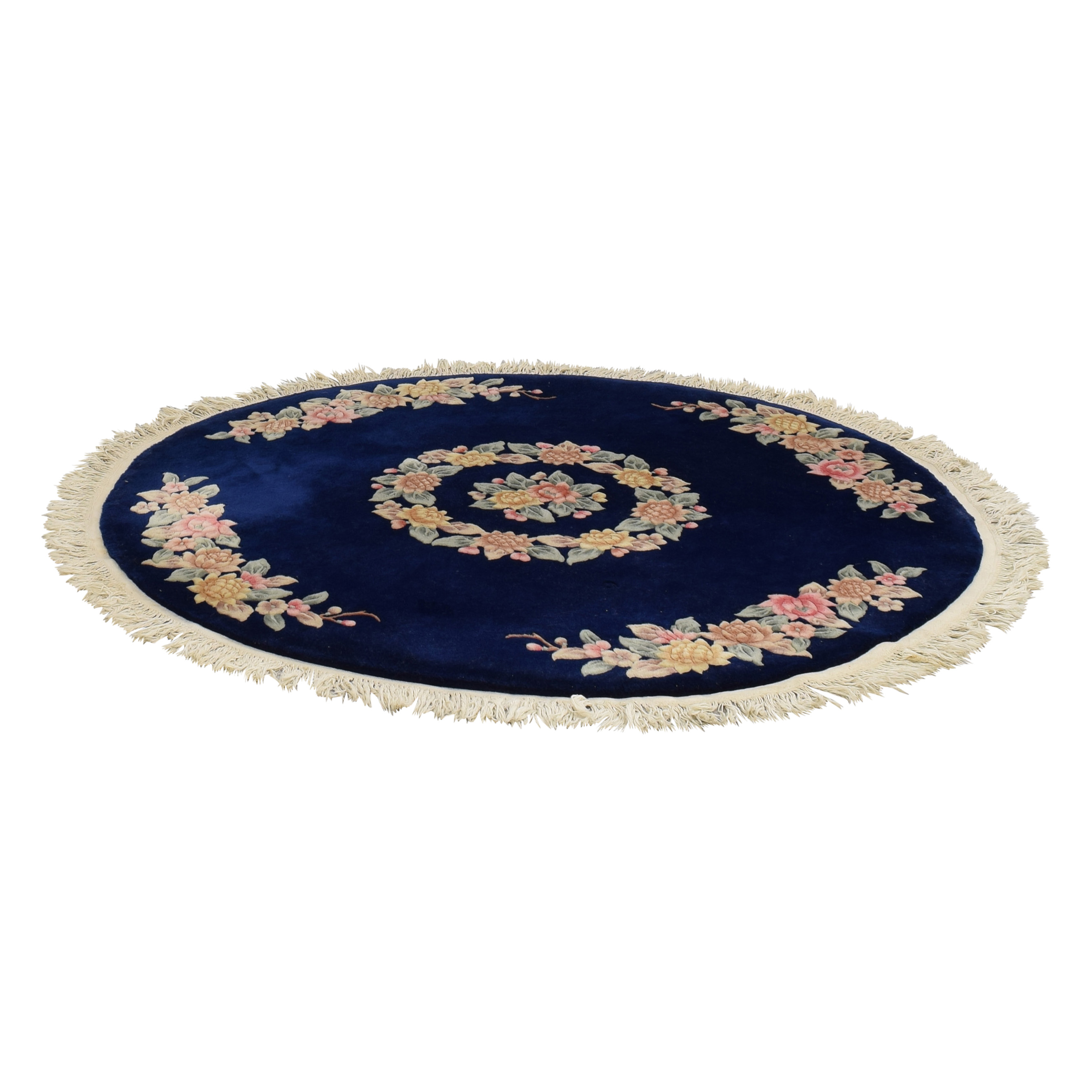 Circular Rug with Flower Design used