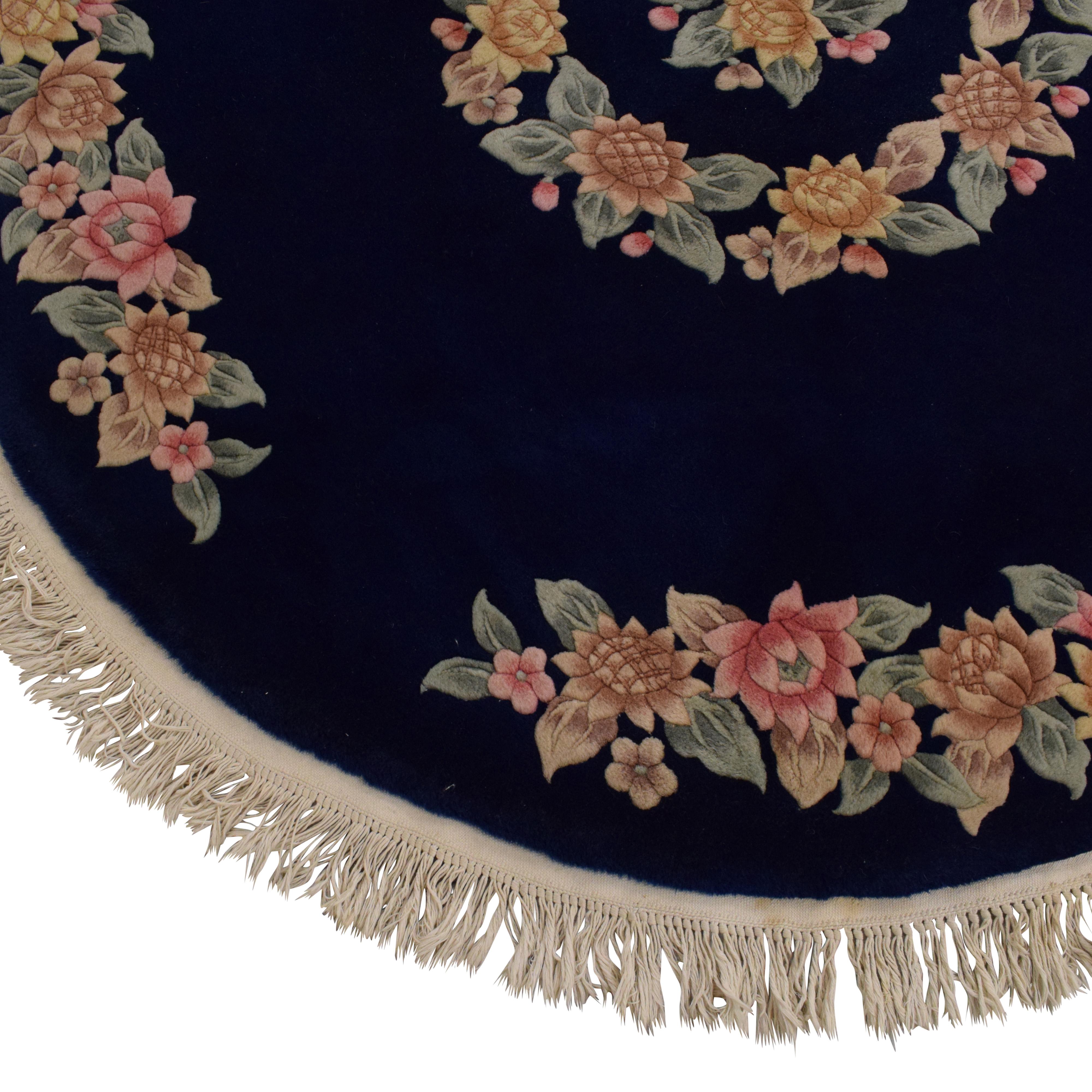 buy Circular Rug with Flower Design