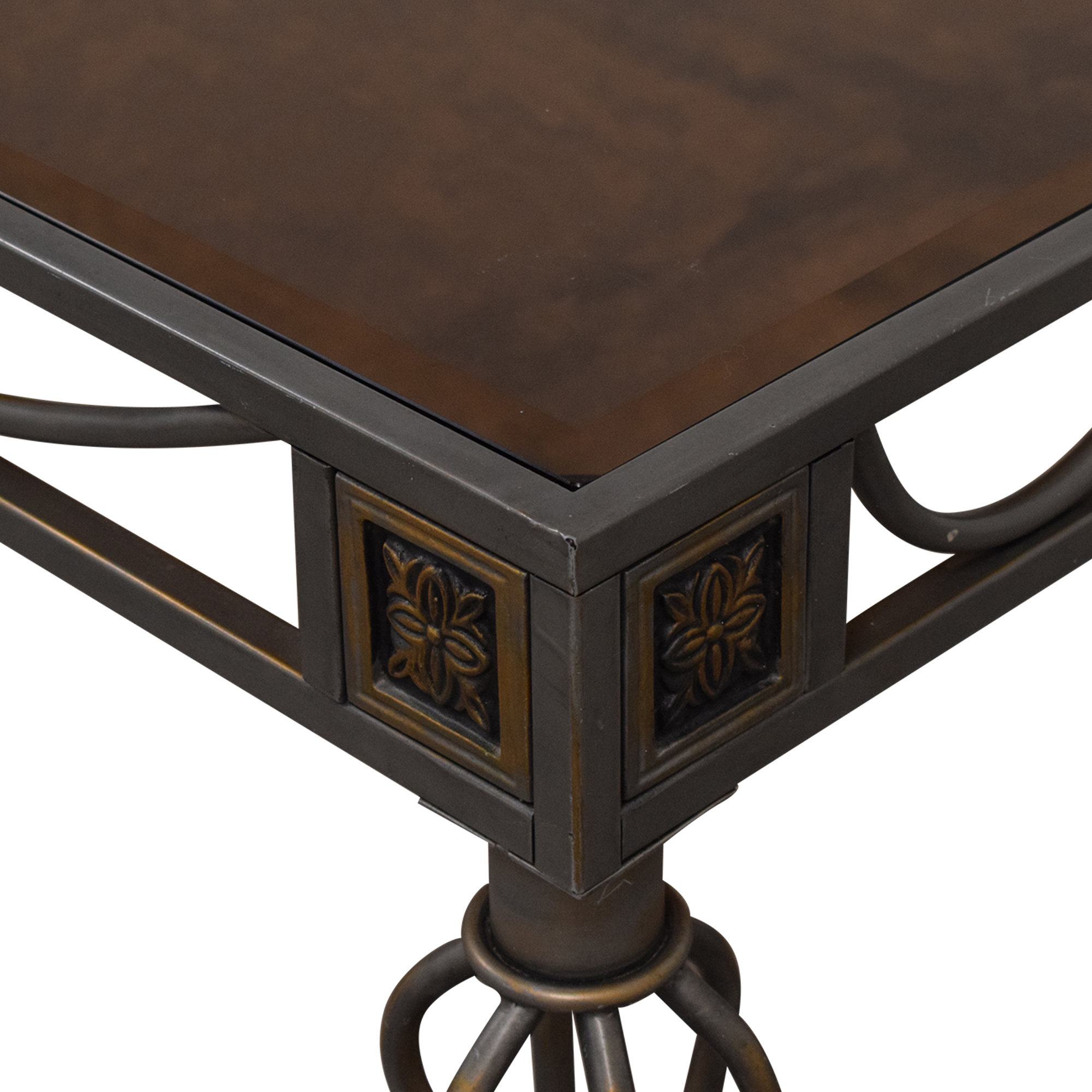 Metal and Glass Coffee Table / Tables