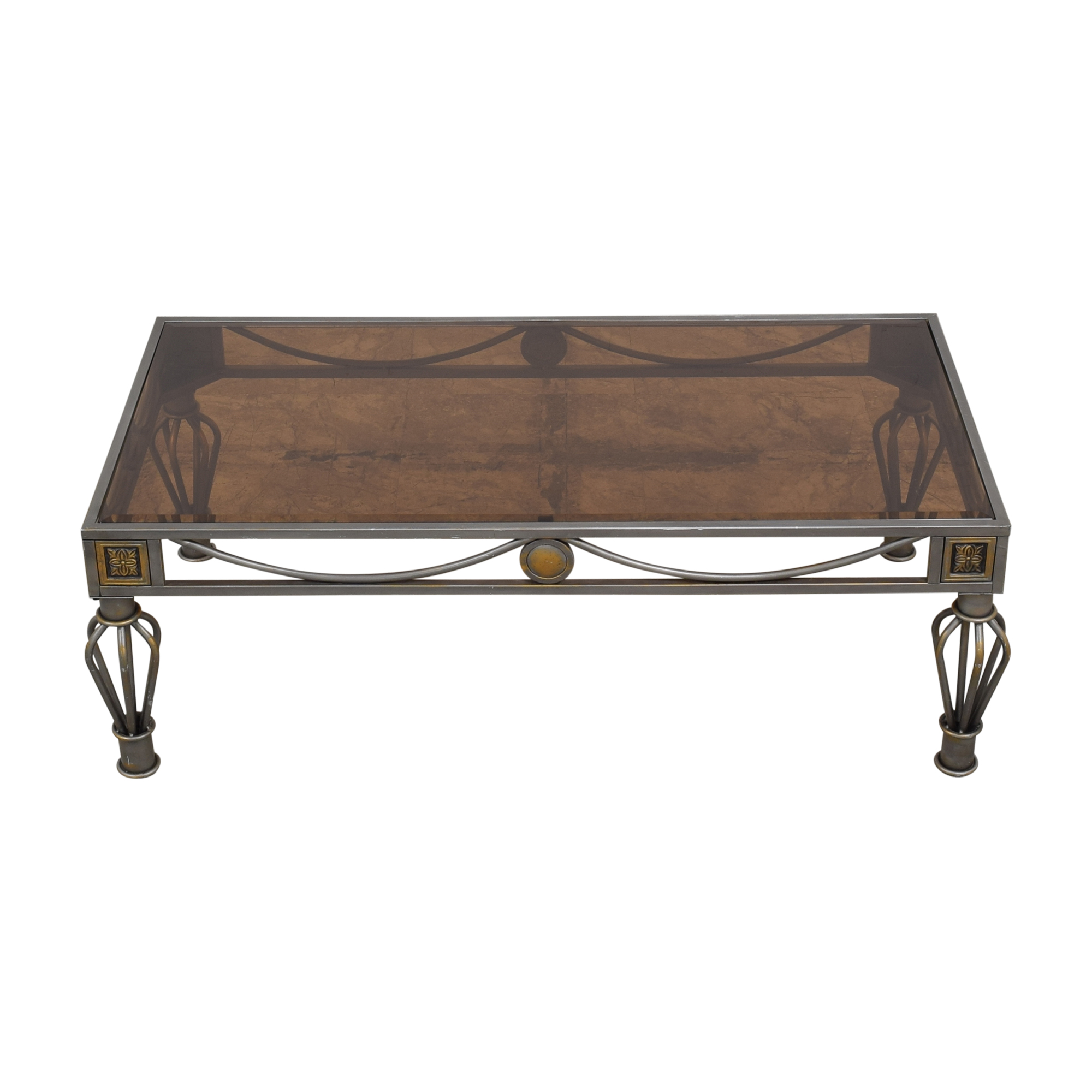 Metal and Glass Coffee Table Coffee Tables