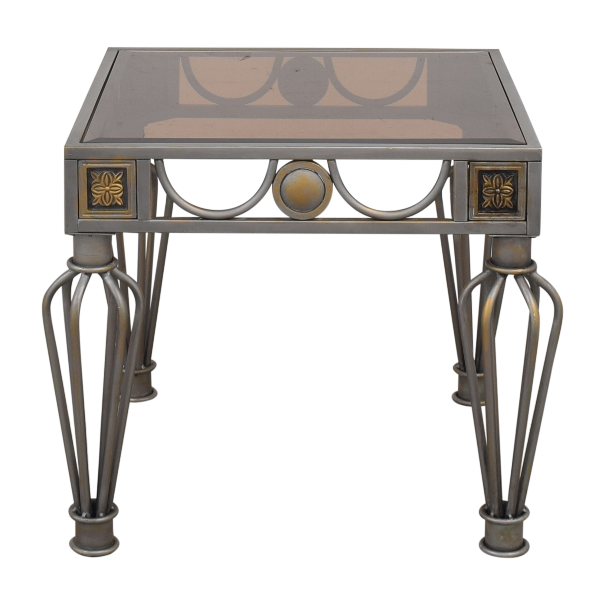 buy Metal and Glass Side Table