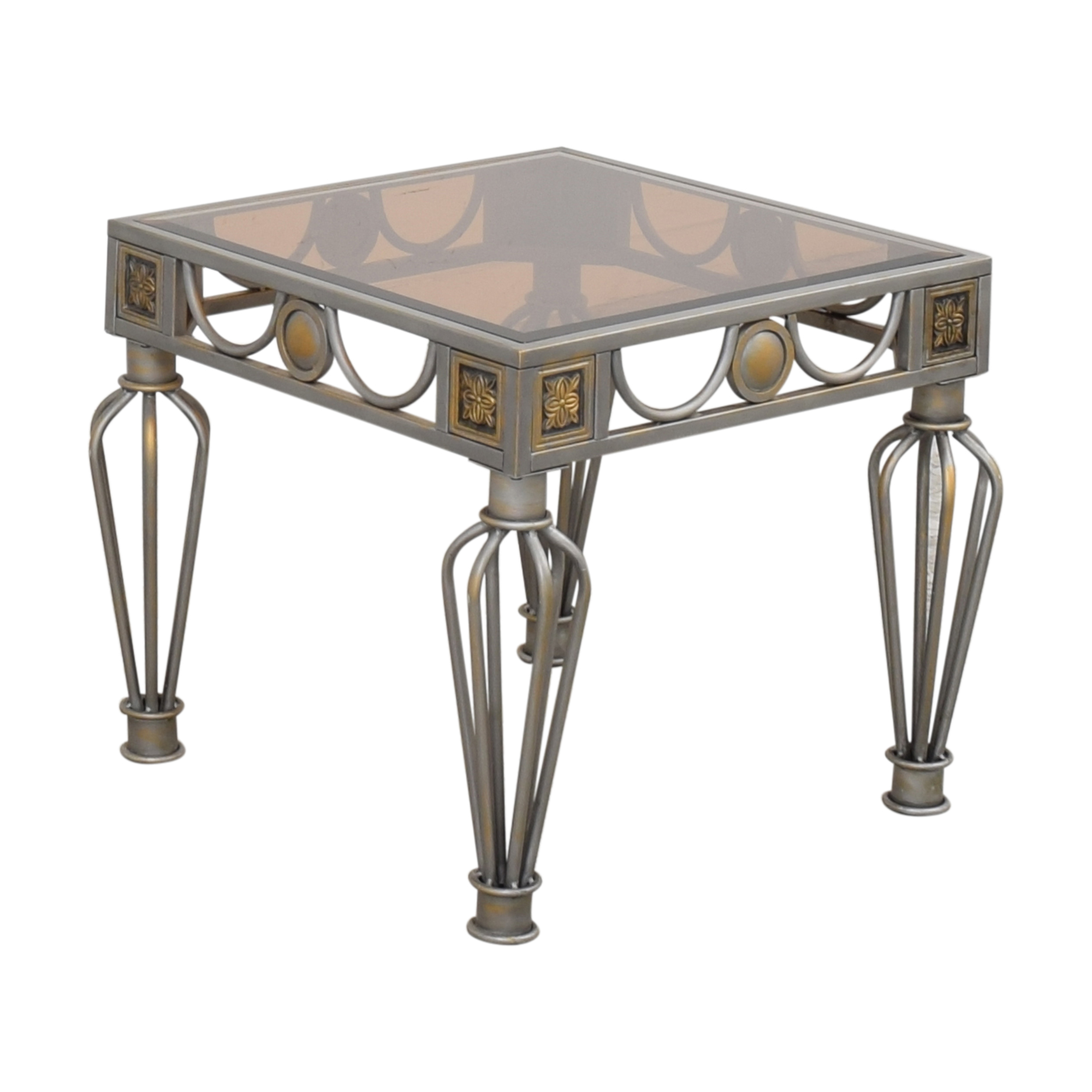 Glass Top End Table ct