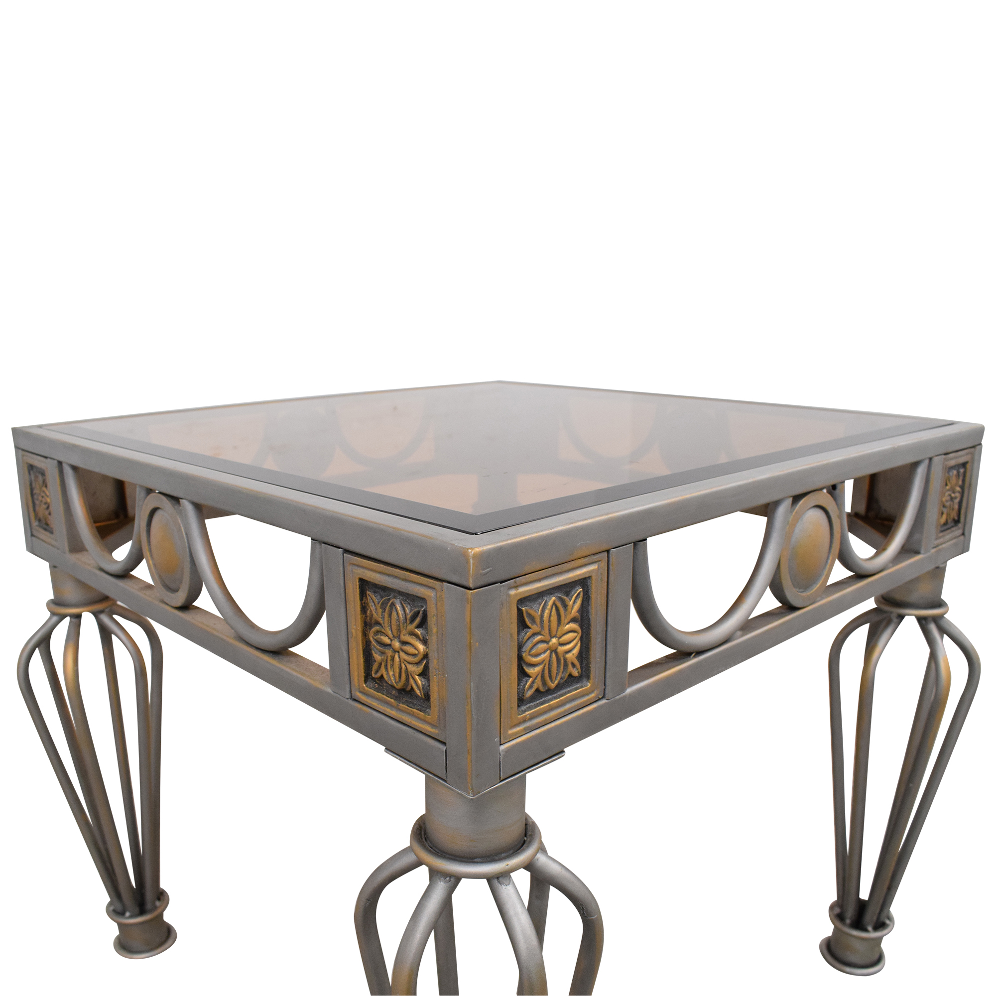 buy  Glass Top End Table online