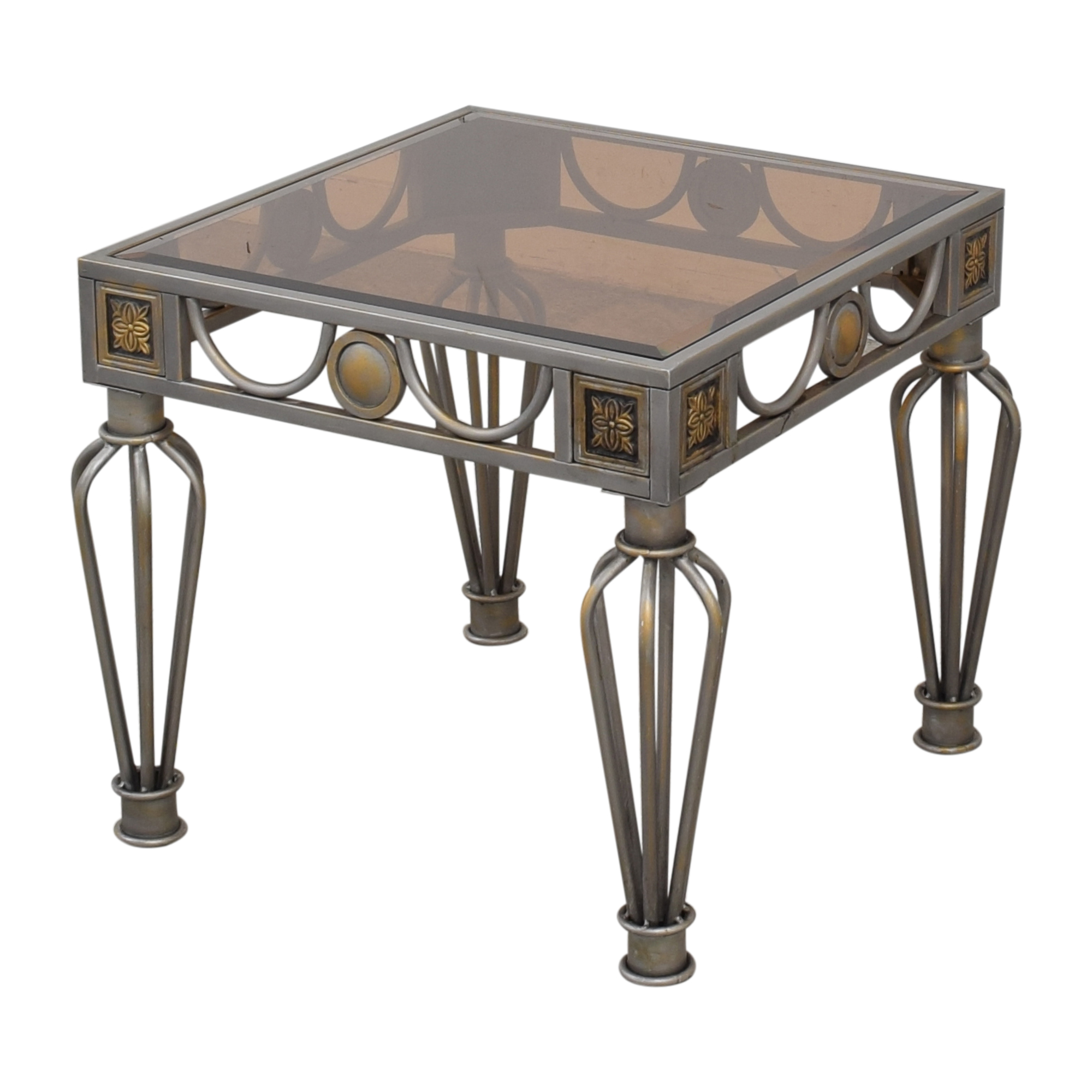 Glass Top End Table End Tables