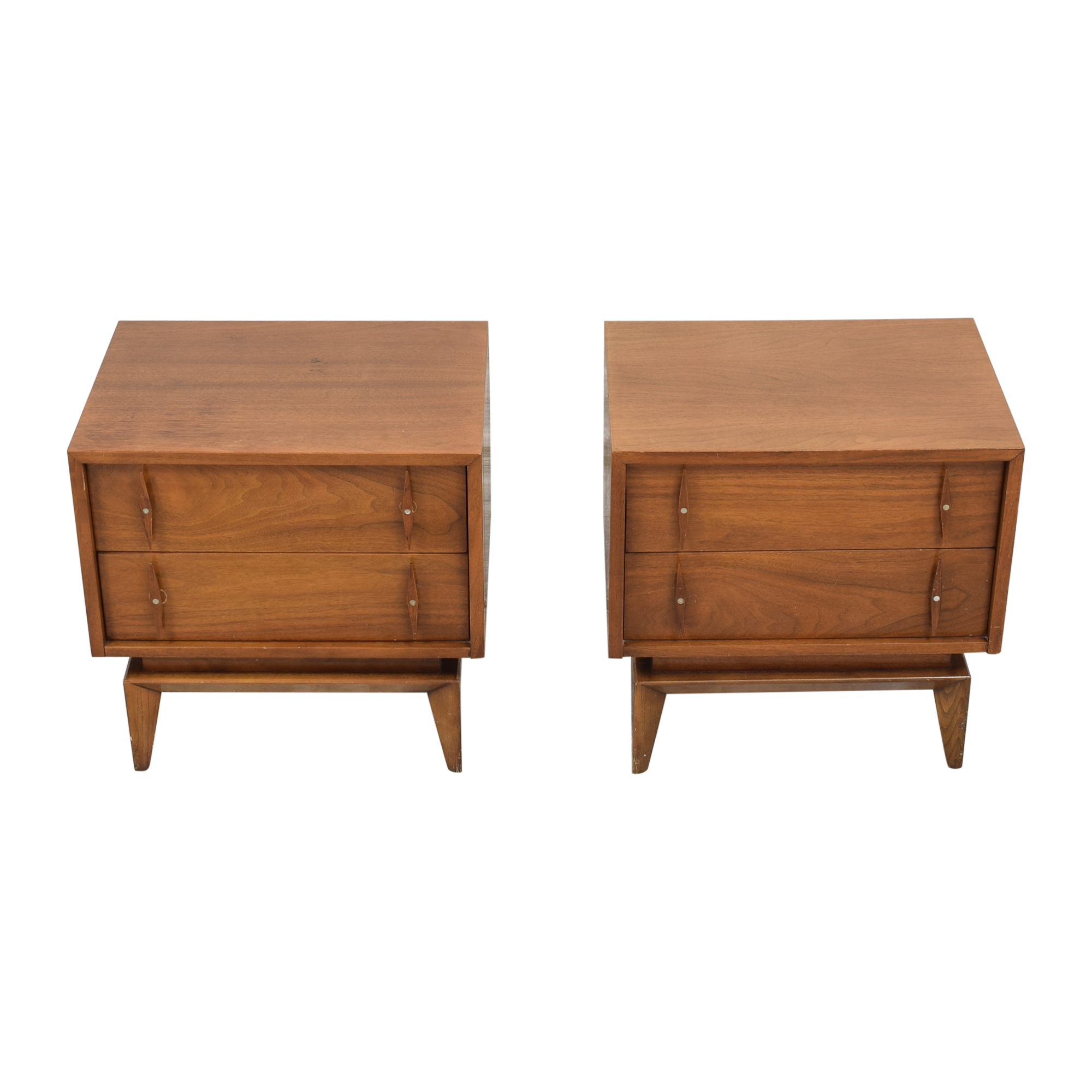 American of Martinsville American of Martinsville Mid-Century Modern End Tables used