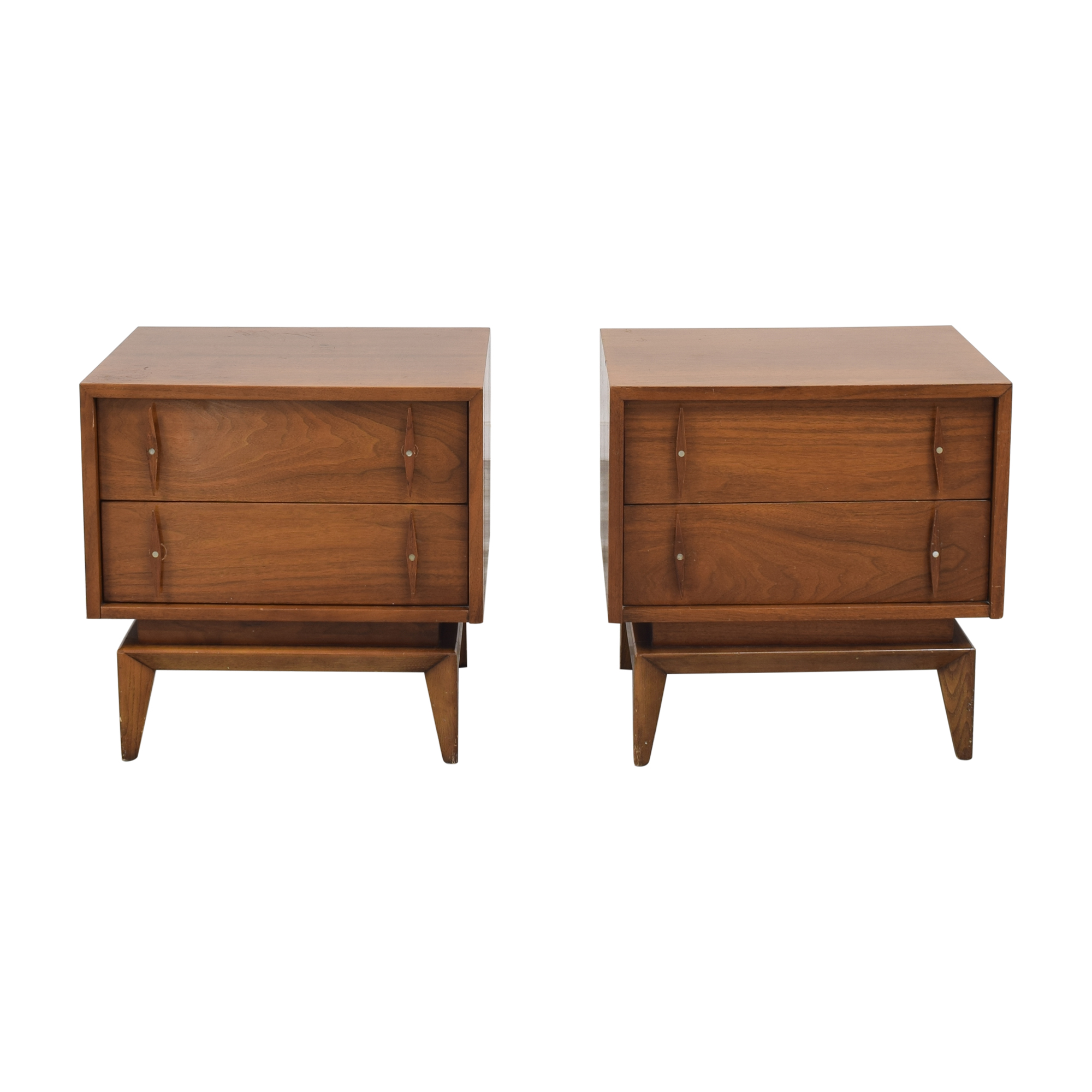 shop American of Martinsville Mid-Century Modern End Tables American of Martinsville