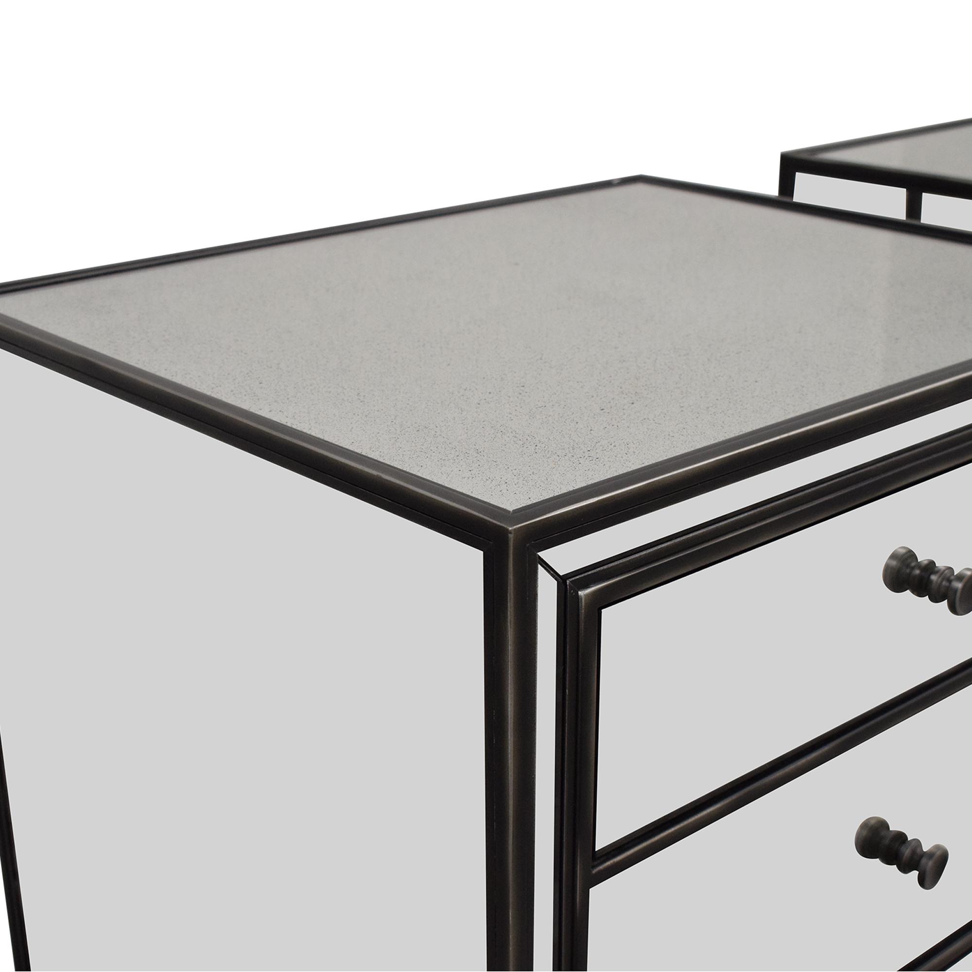 buy Restoration Hardware Strand Mirrored Closed Nightstands Restoration Hardware End Tables