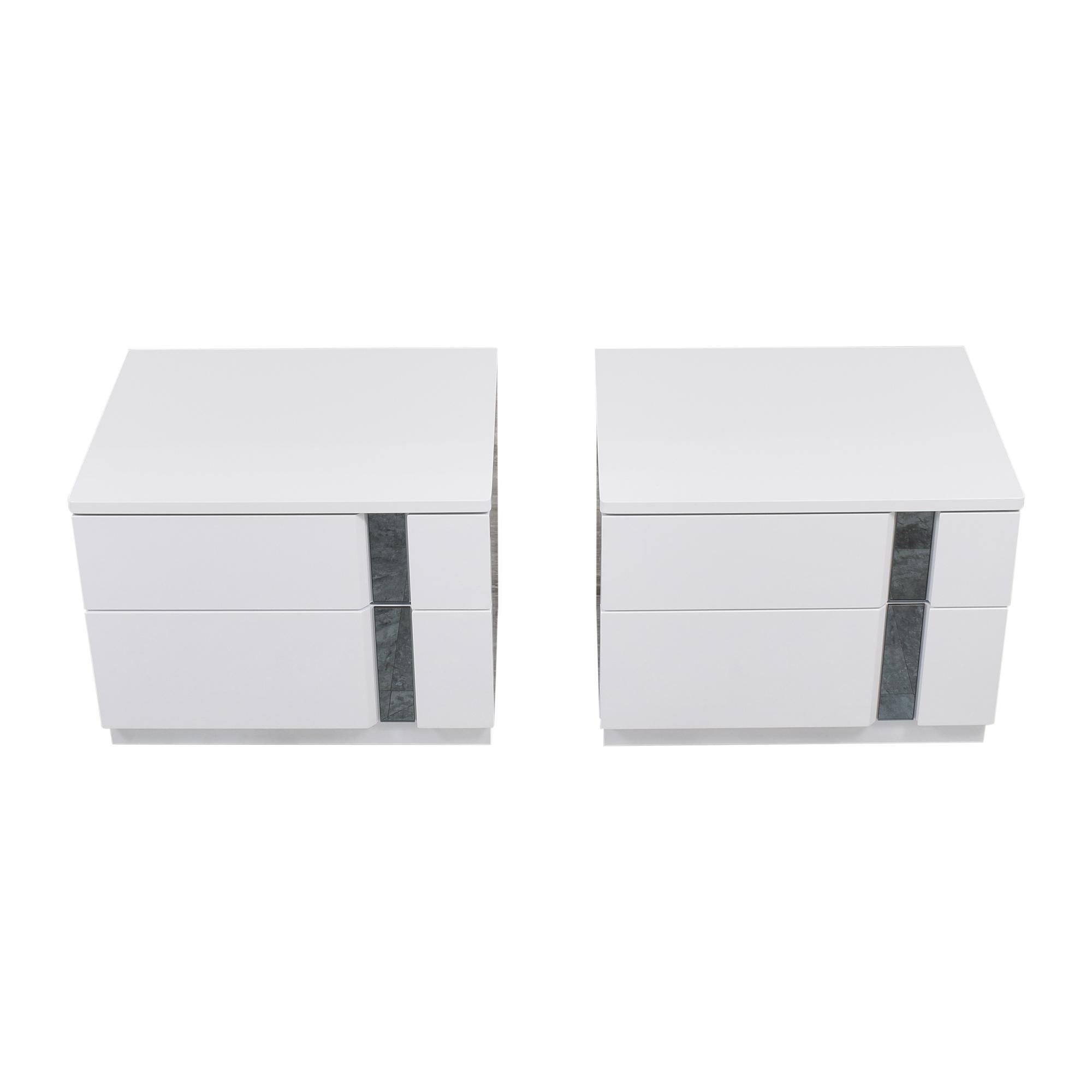 Global Global Furniture Modern Two Drawer Nightstands ma