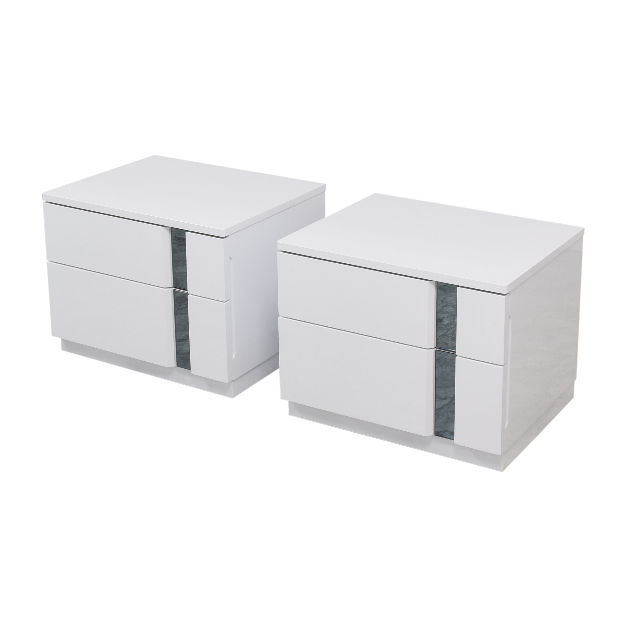 Global Furniture Modern Two Drawer Nightstands / End Tables