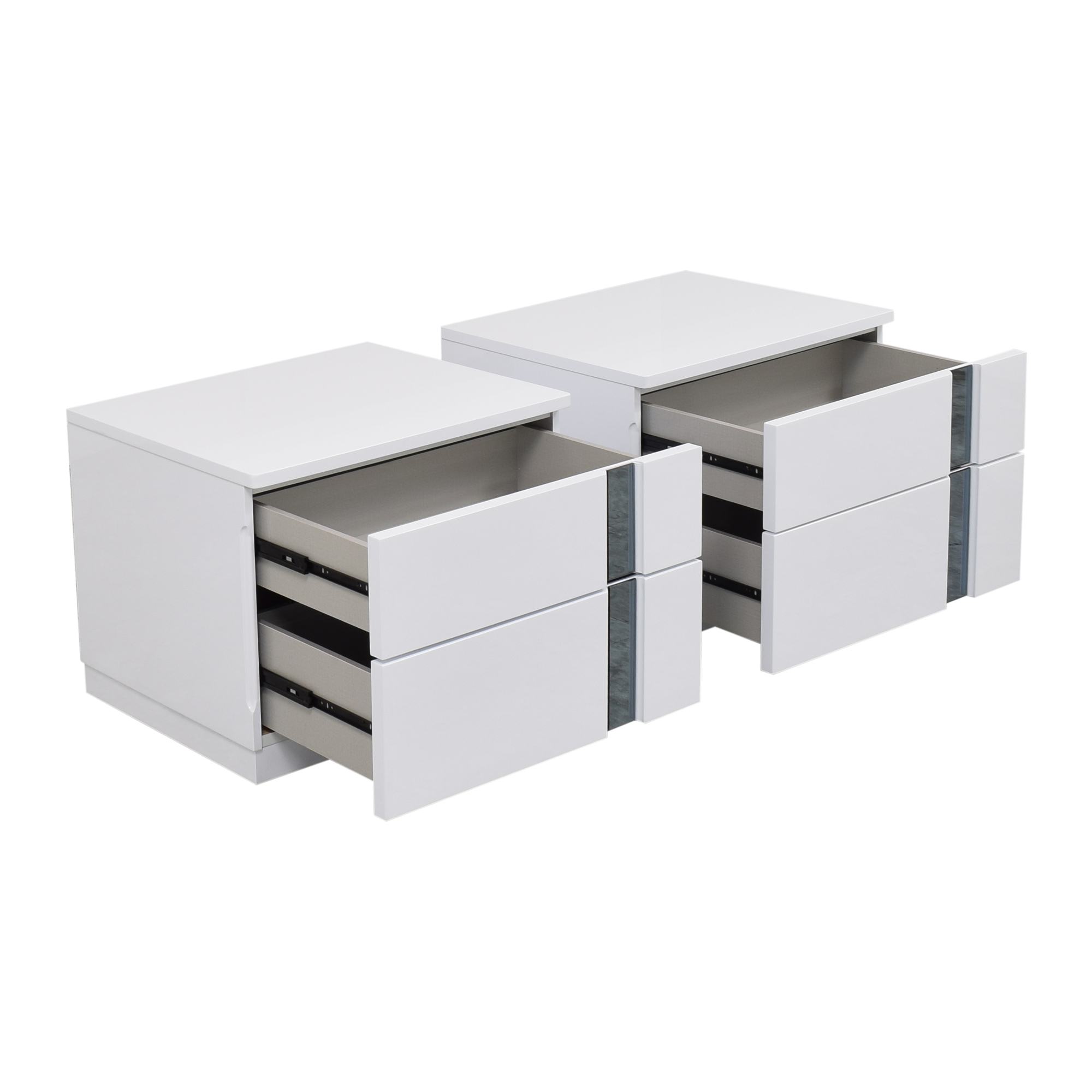 Global Global Furniture Modern Two Drawer Nightstands discount