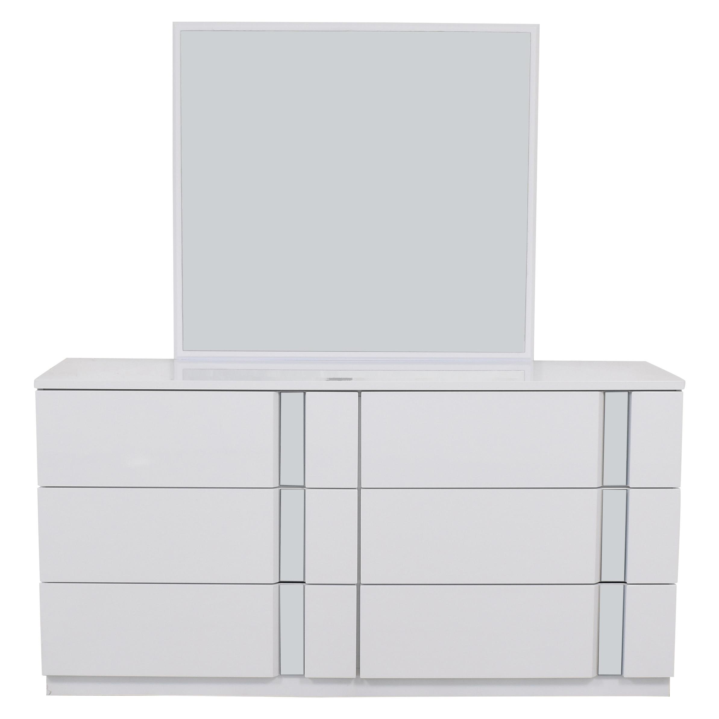 shop Global Furniture Modern Dresser and Mirror Global Storage
