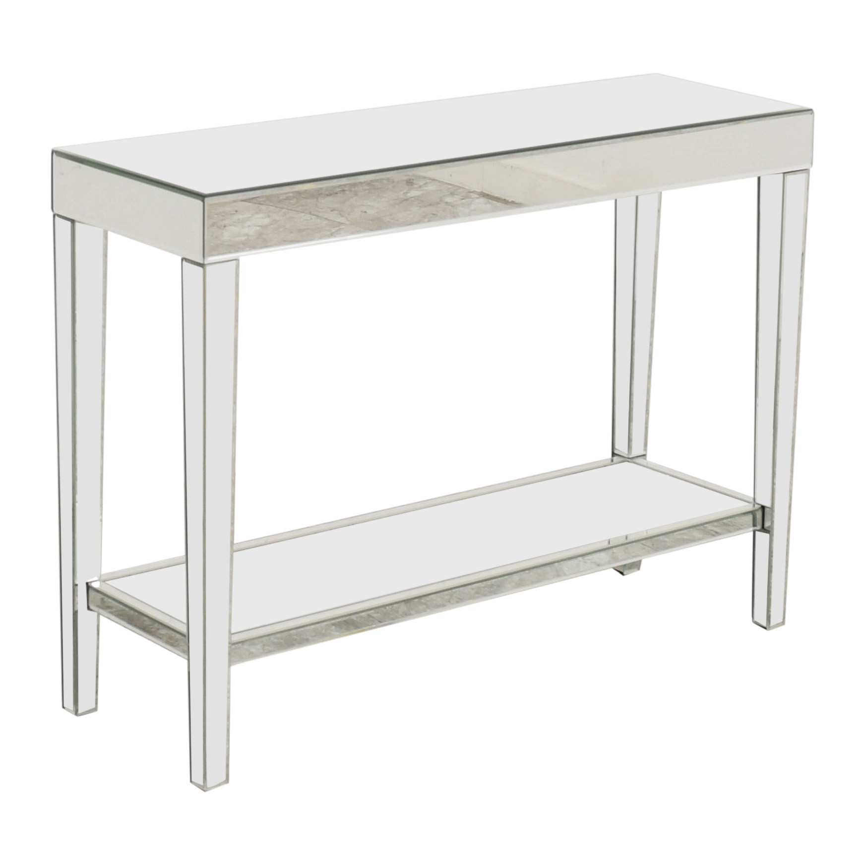 Howard Elliot Collection Howard Elliott Orion Mirrored Console Table With Shelf