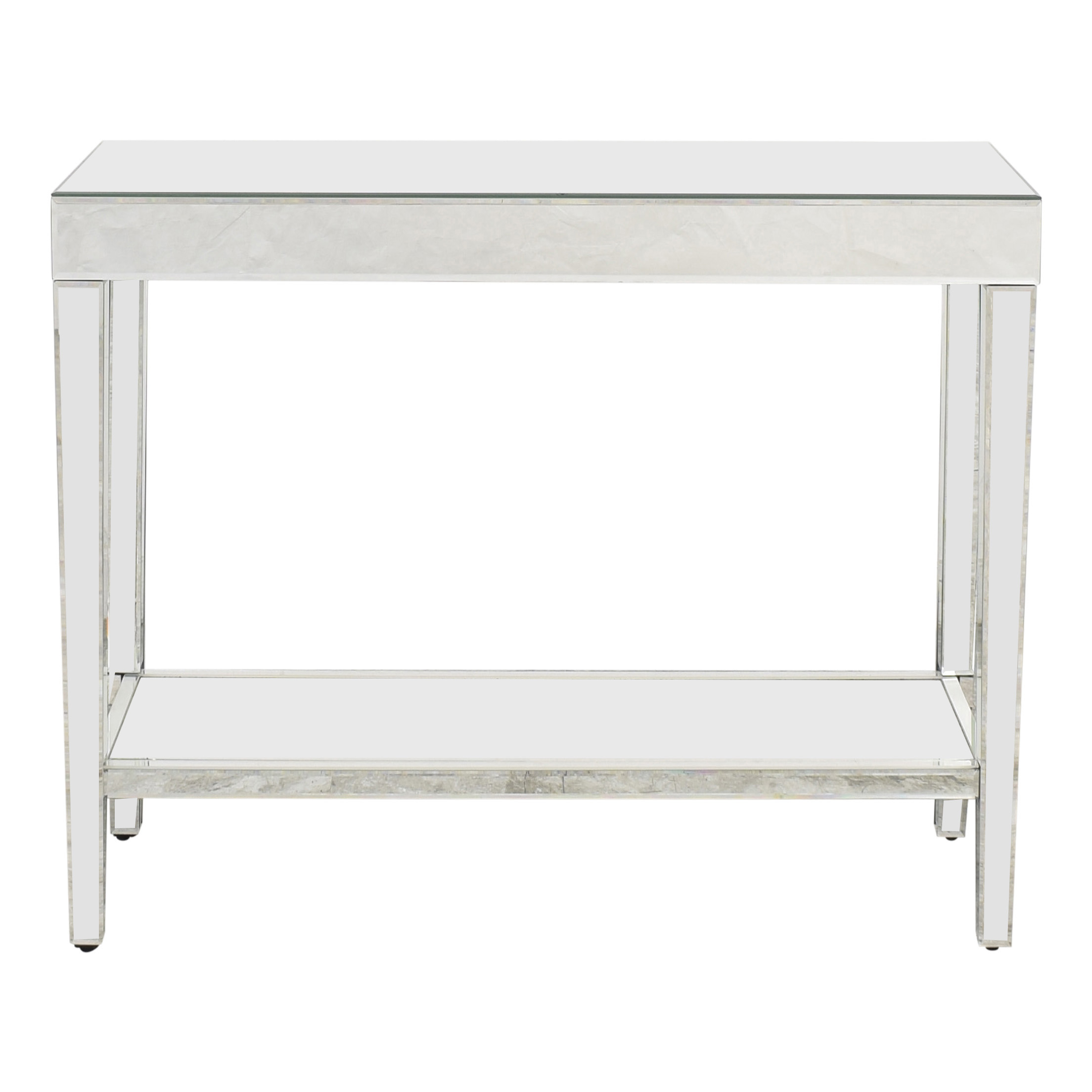 Howard Elliot Collection Howard Elliott Orion Mirrored Console Table With Shelf ct