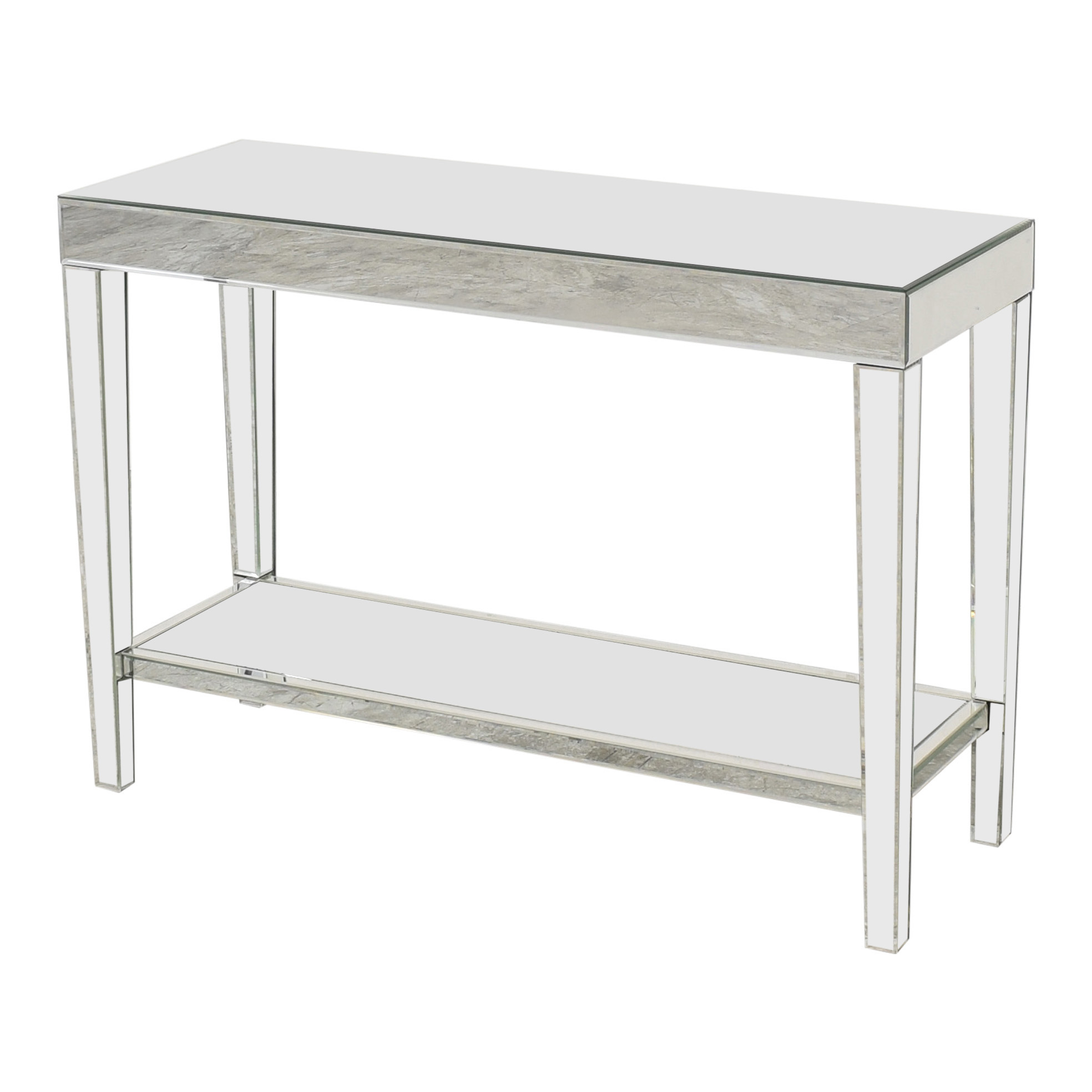 buy Howard Elliott Orion Mirrored Console Table With Shelf Howard Elliot Collection Accent Tables