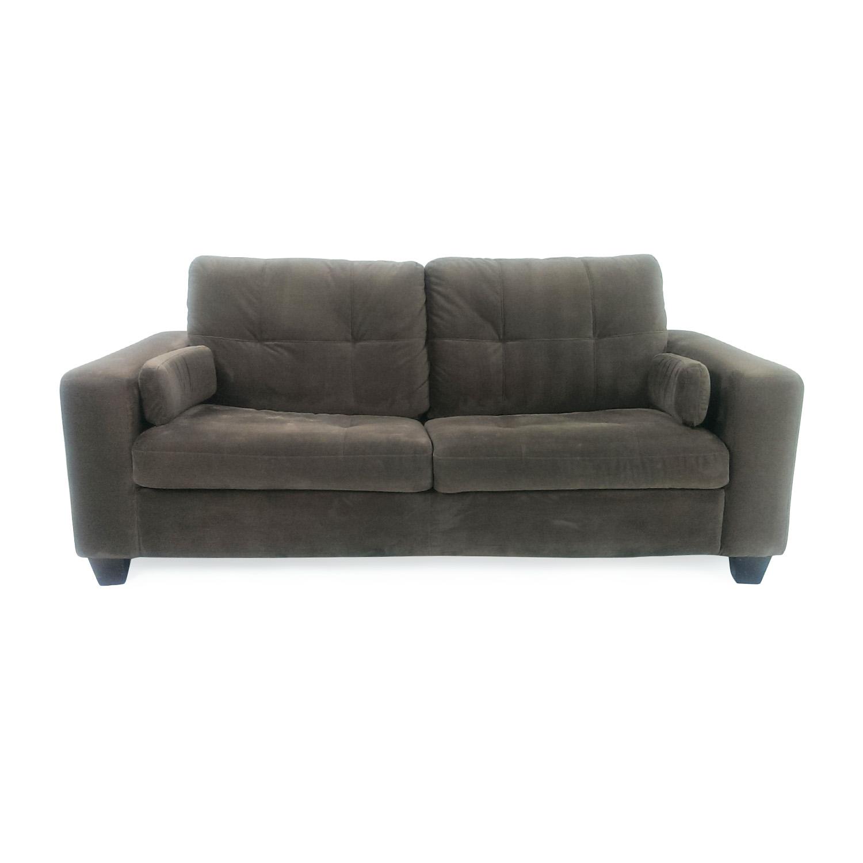 Brilliant 72 Off Jennifer Furniture Jennifer Convertibles Microsuede Pull Out Sofa Sofas Machost Co Dining Chair Design Ideas Machostcouk