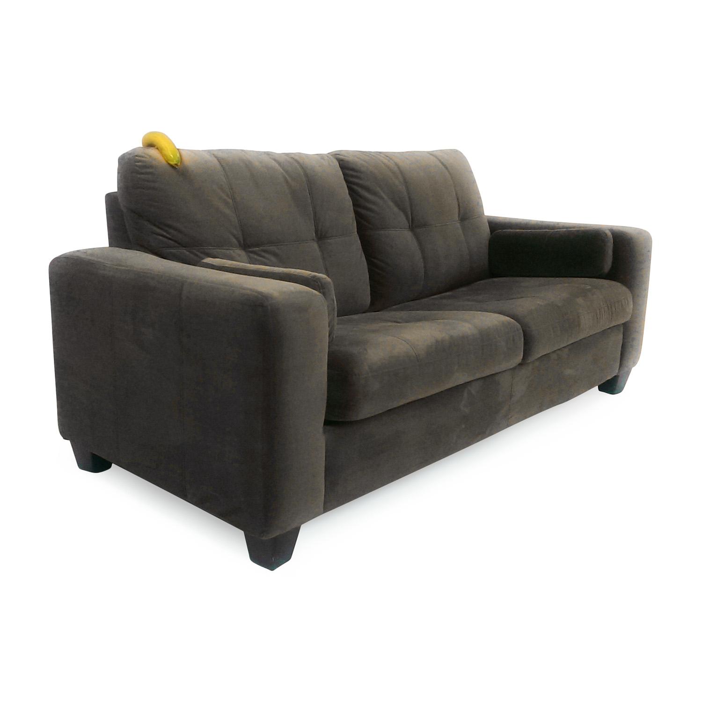 - 72% OFF - Jennifer Furniture Jennifer Convertibles Microsuede Pull