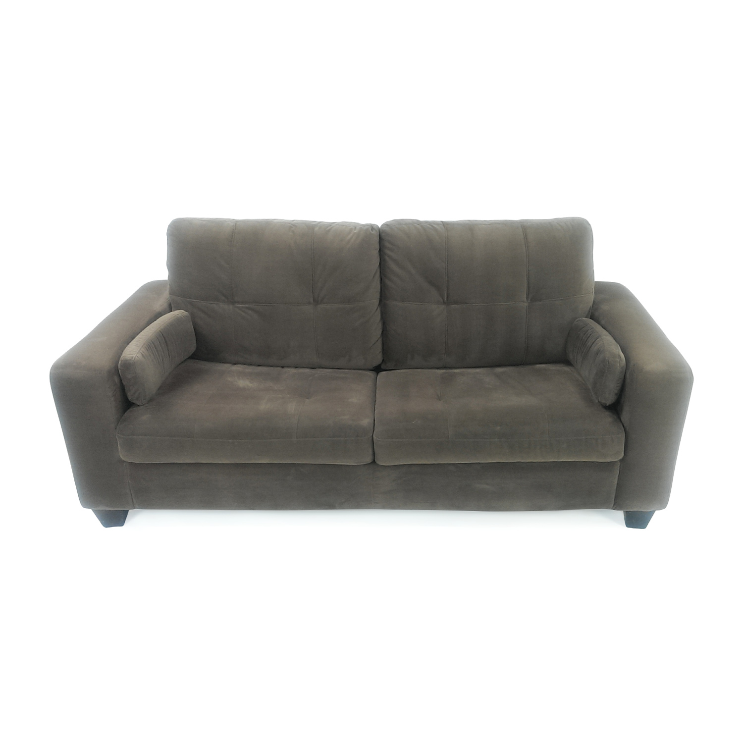 Jennifer Convertibles Microsuede Pull Out Sofa / Sofas