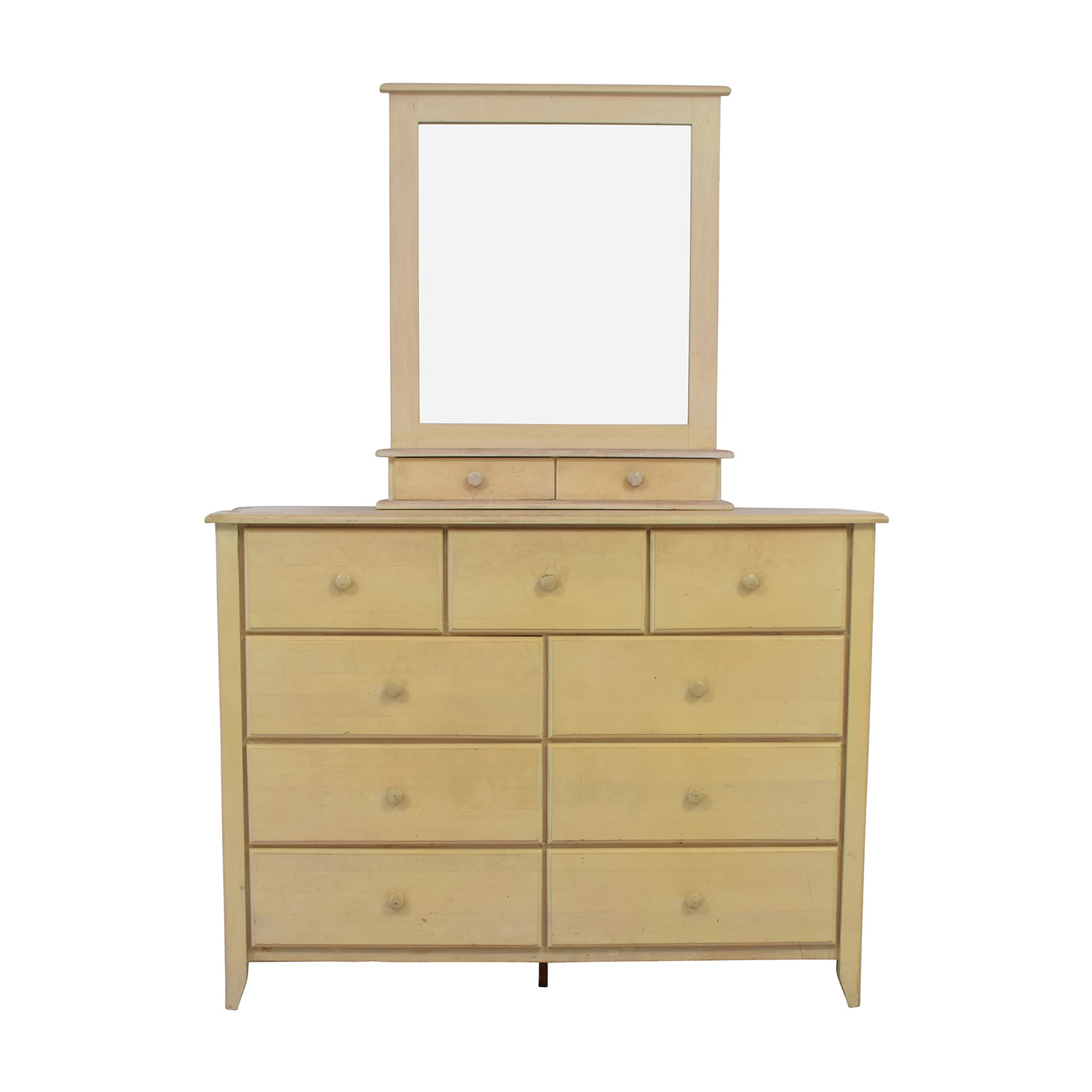 Gothic Cabinet Craft Nine Drawer Dresser With Vanity Mirror Sale ...