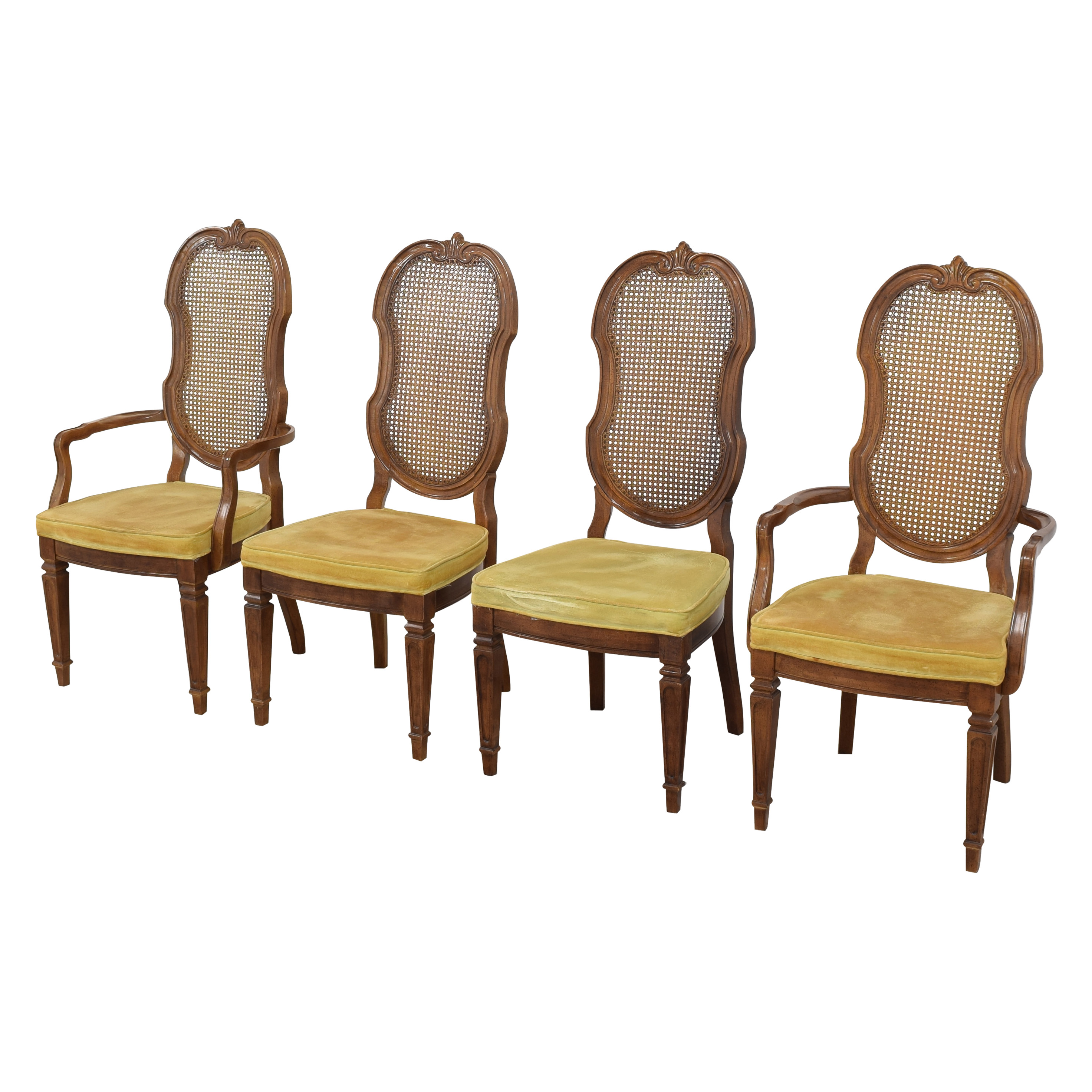 Thomasville Thomasville Italian Provincial Style Cane Back Dining Chairs on sale