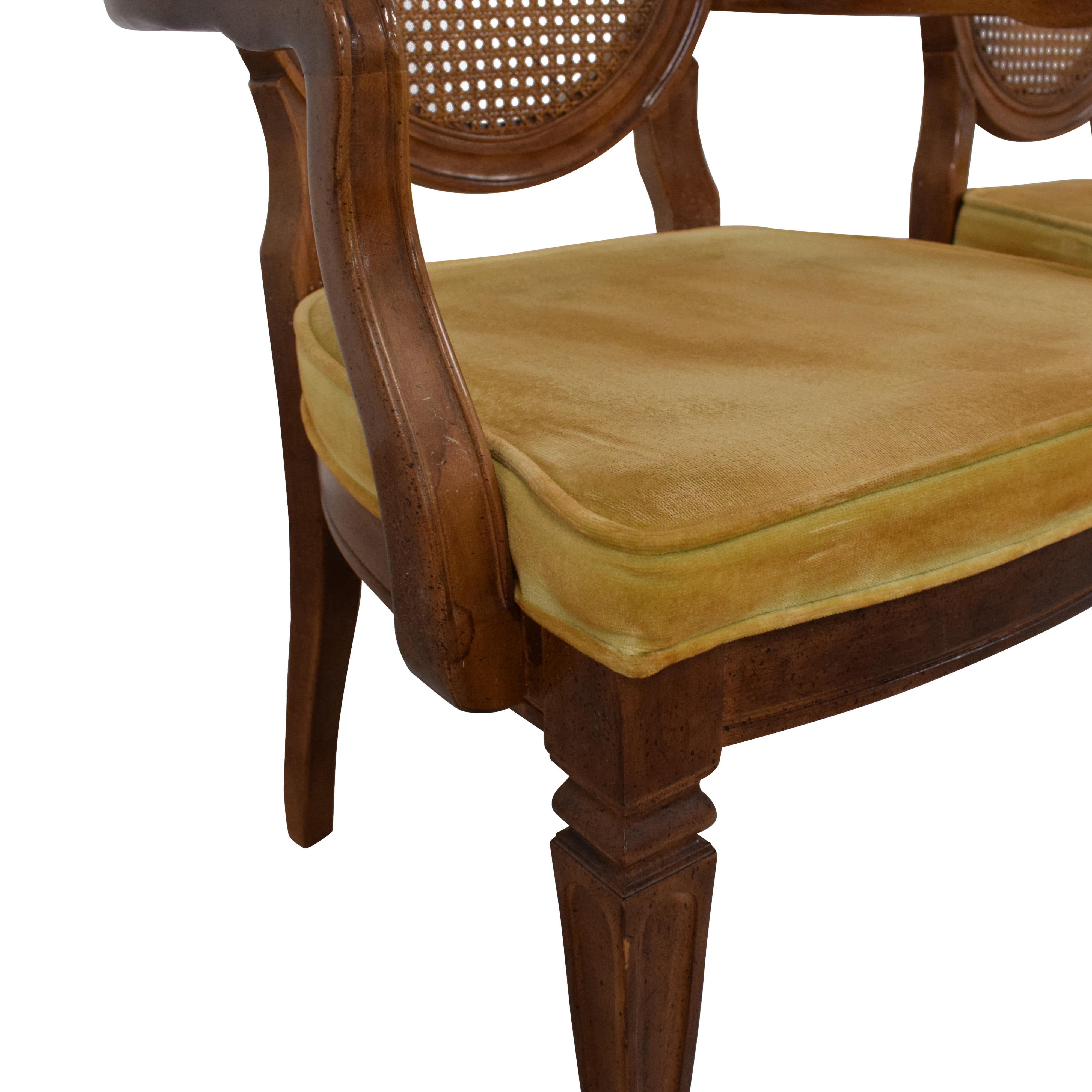 buy Thomasville Thomasville Italian Provincial Style Cane Back Dining Chairs online