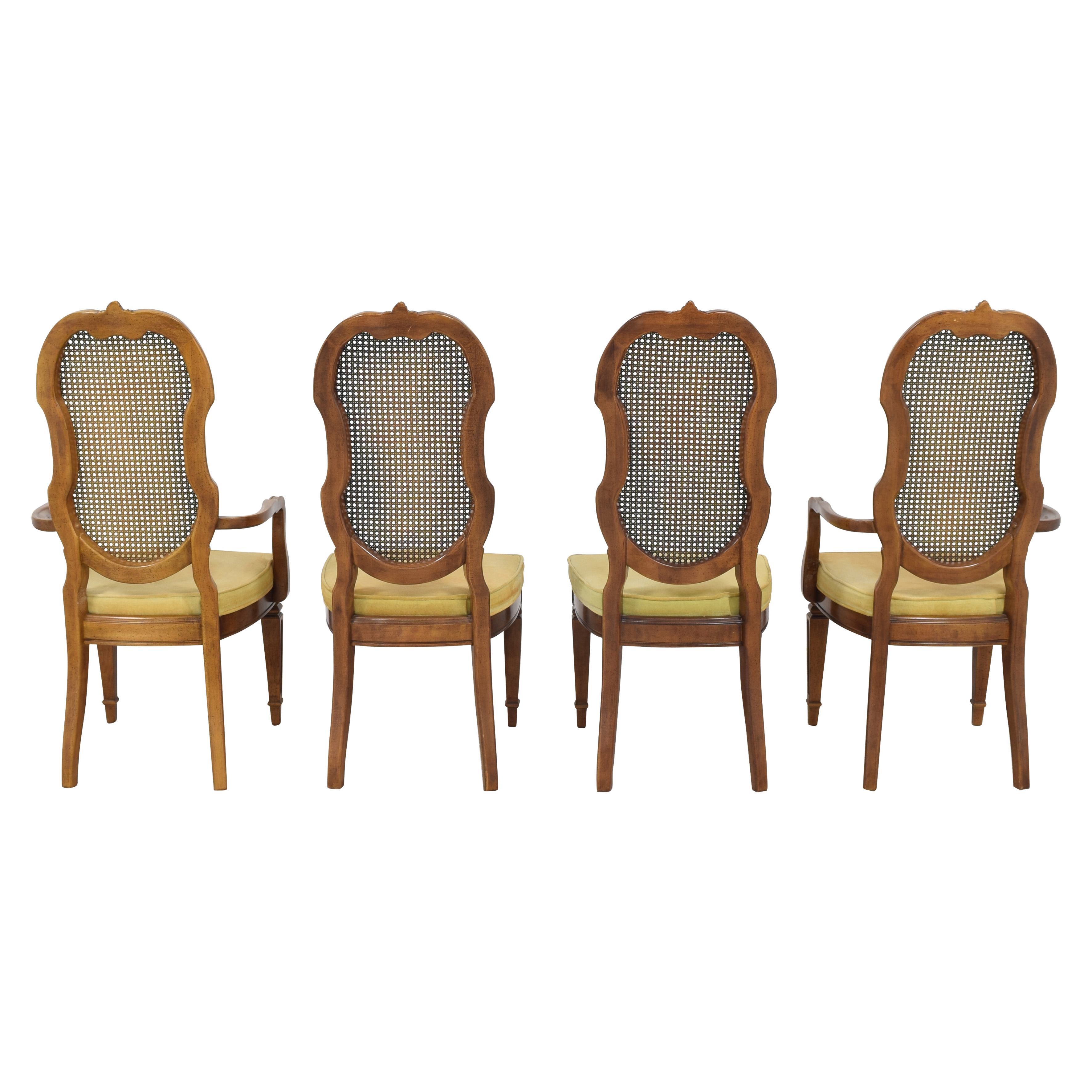 buy Thomasville Italian Provincial Style Cane Back Dining Chairs Thomasville Chairs
