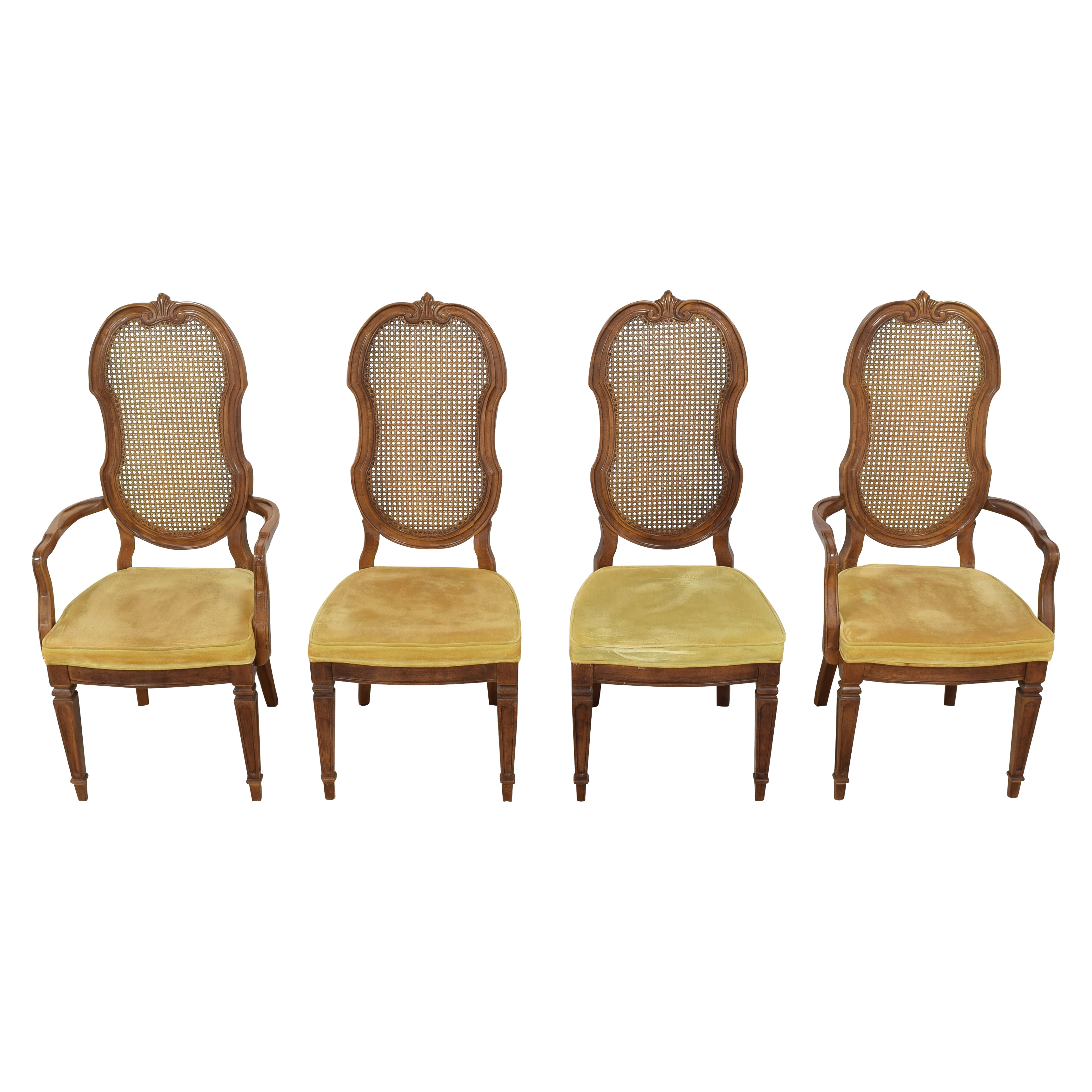 Thomasville Thomasville Italian Provincial Style Cane Back Dining Chairs ct