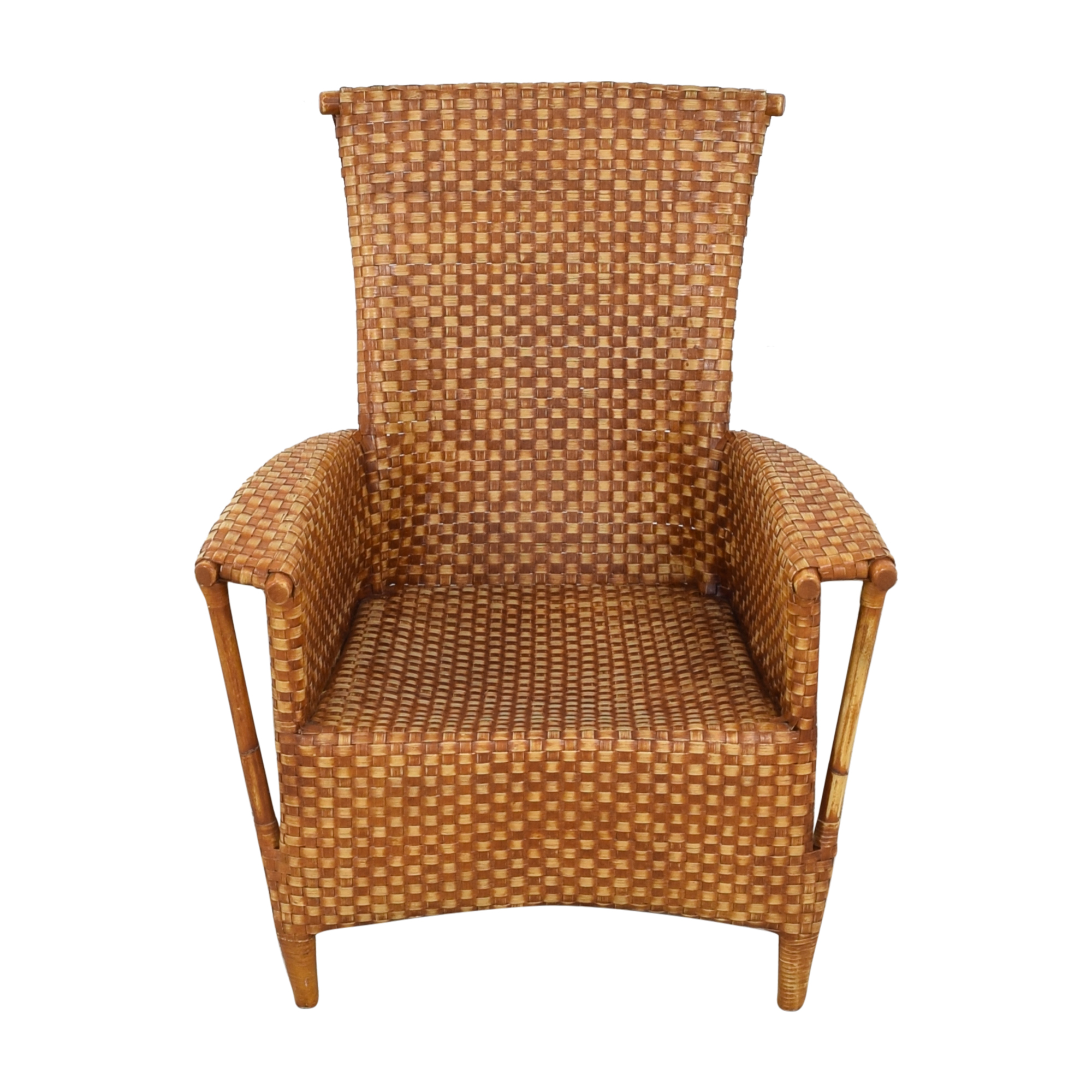 shop Crat & Barrel Wicker Chair Crate & Barrel Chairs
