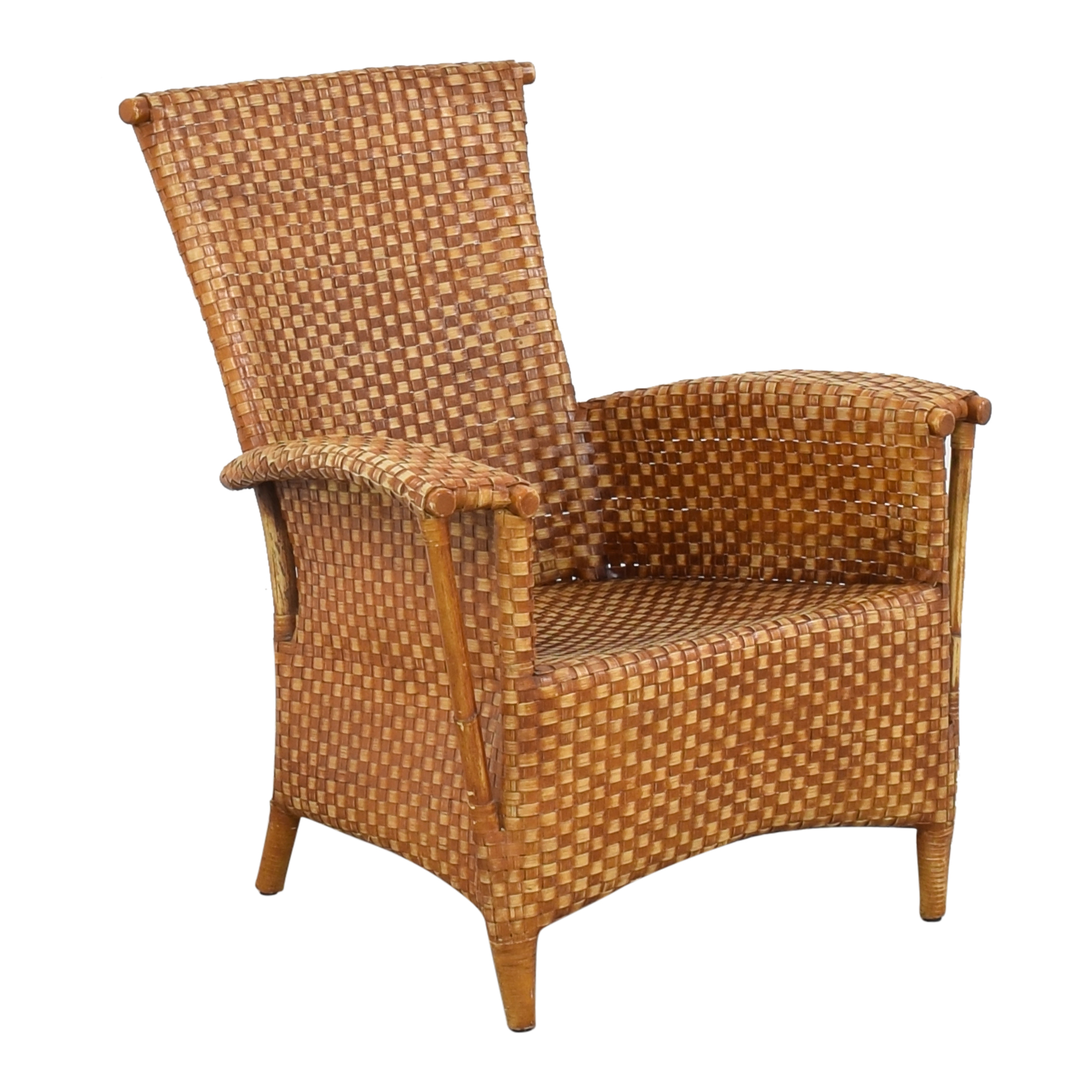 buy Crat & Barrel Wicker Chair Crate & Barrel