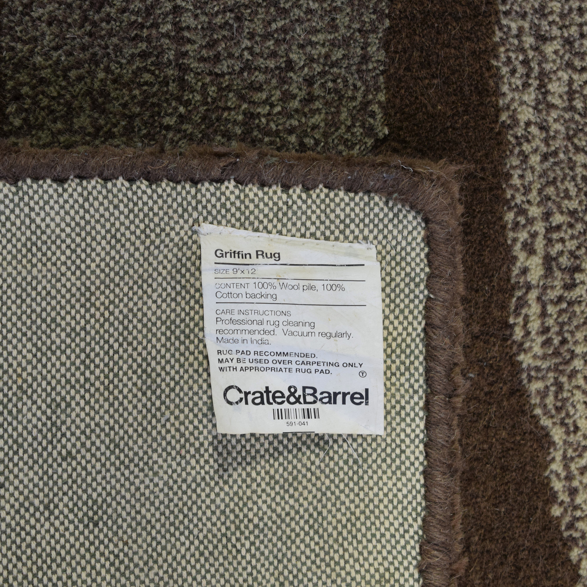 Crate & Barrel Crate & Barrel Griffin Area Rug ct