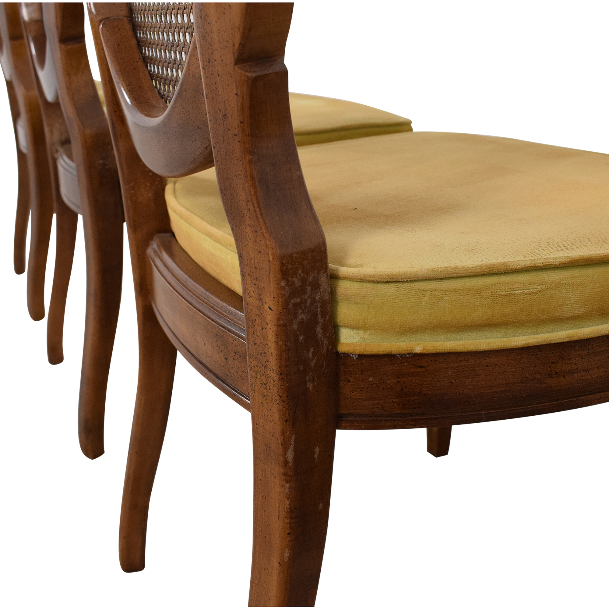 Thomasville Thomasville Italian Provincial Style Dining Chairs brown & yellow