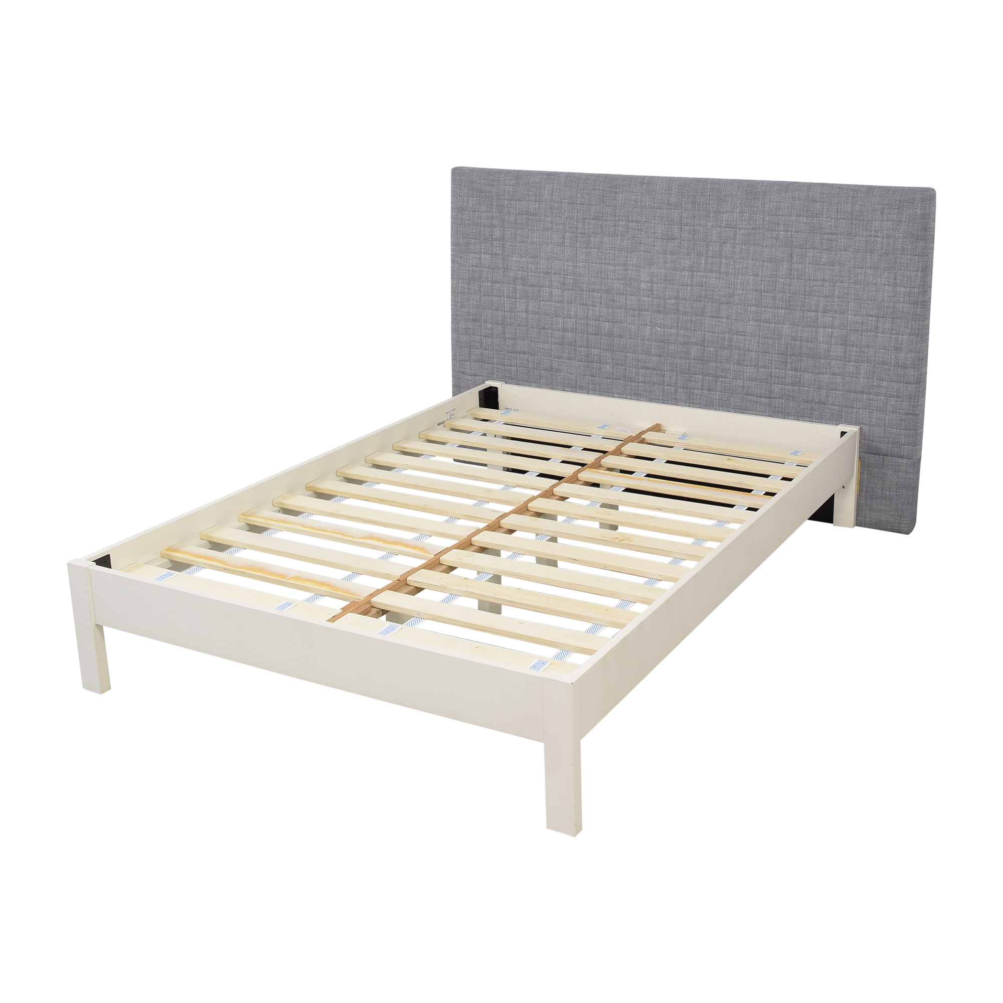 West Elm West Elm Full Size Simple Bed Frame with Upholstered Headboard discount