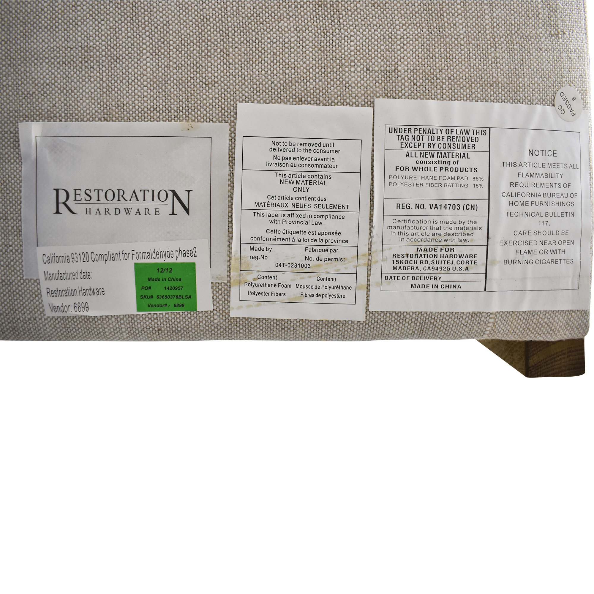 Restoration Hardware Restoration Hardware Adler Shelter Full Bed ma