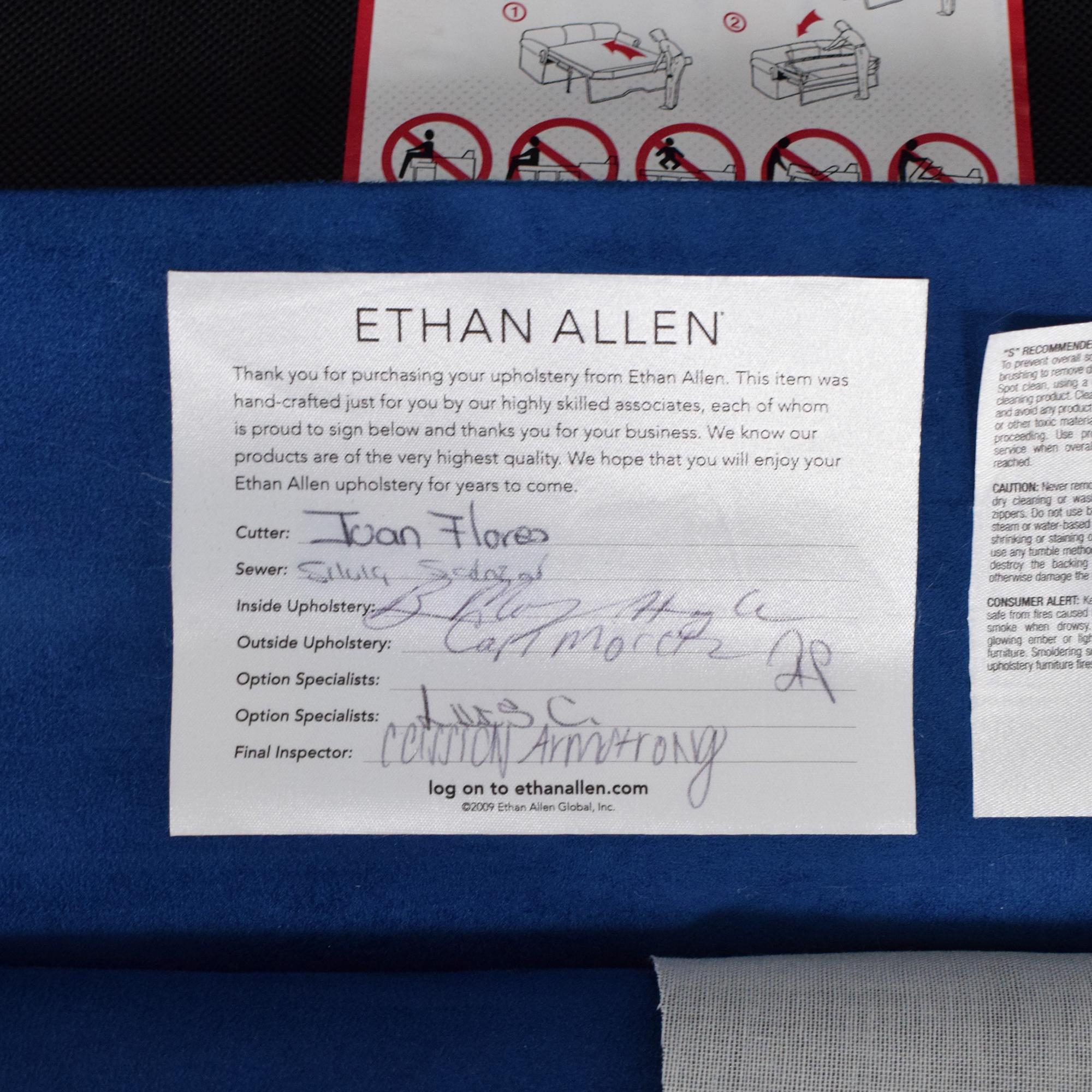Ethan Allen Ethan Allen Twin Sleeper Marina Chair with Ottoman ct