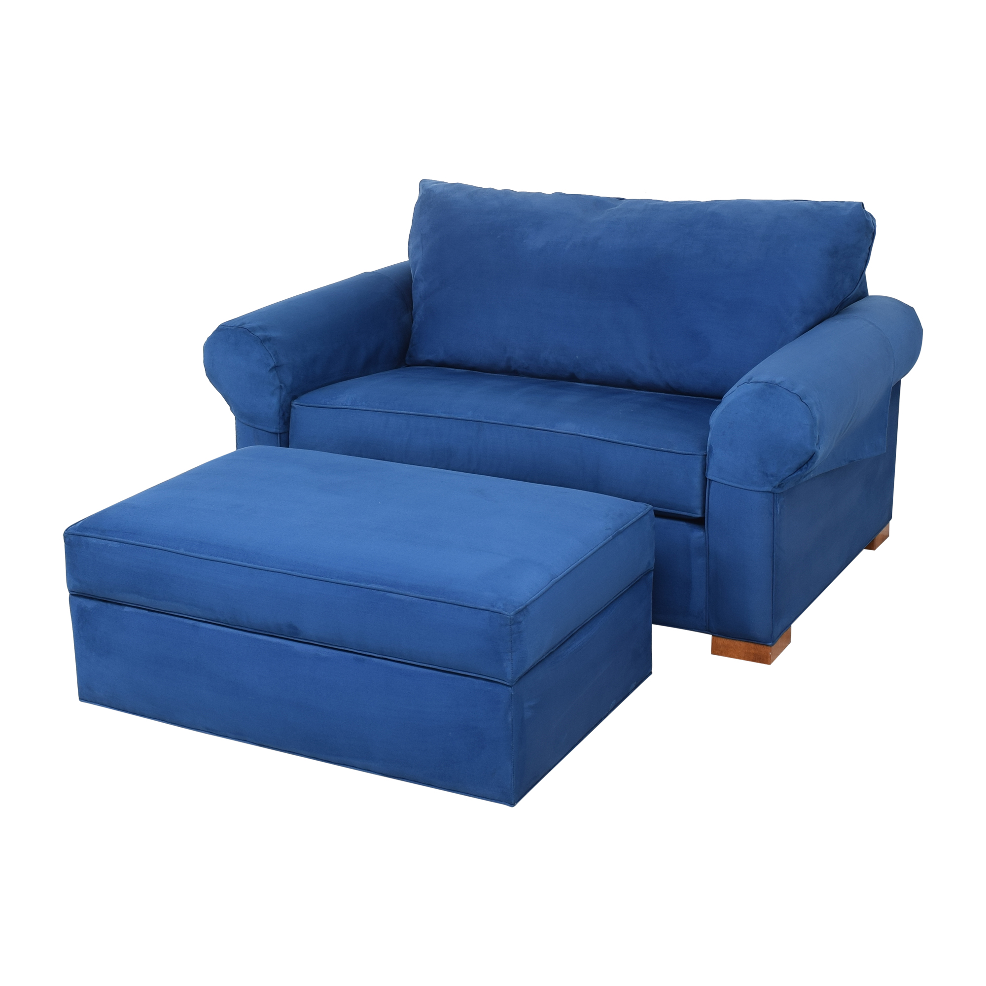 Ethan Allen Ethan Allen Twin Sleeper Marina Chair with Ottoman on sale