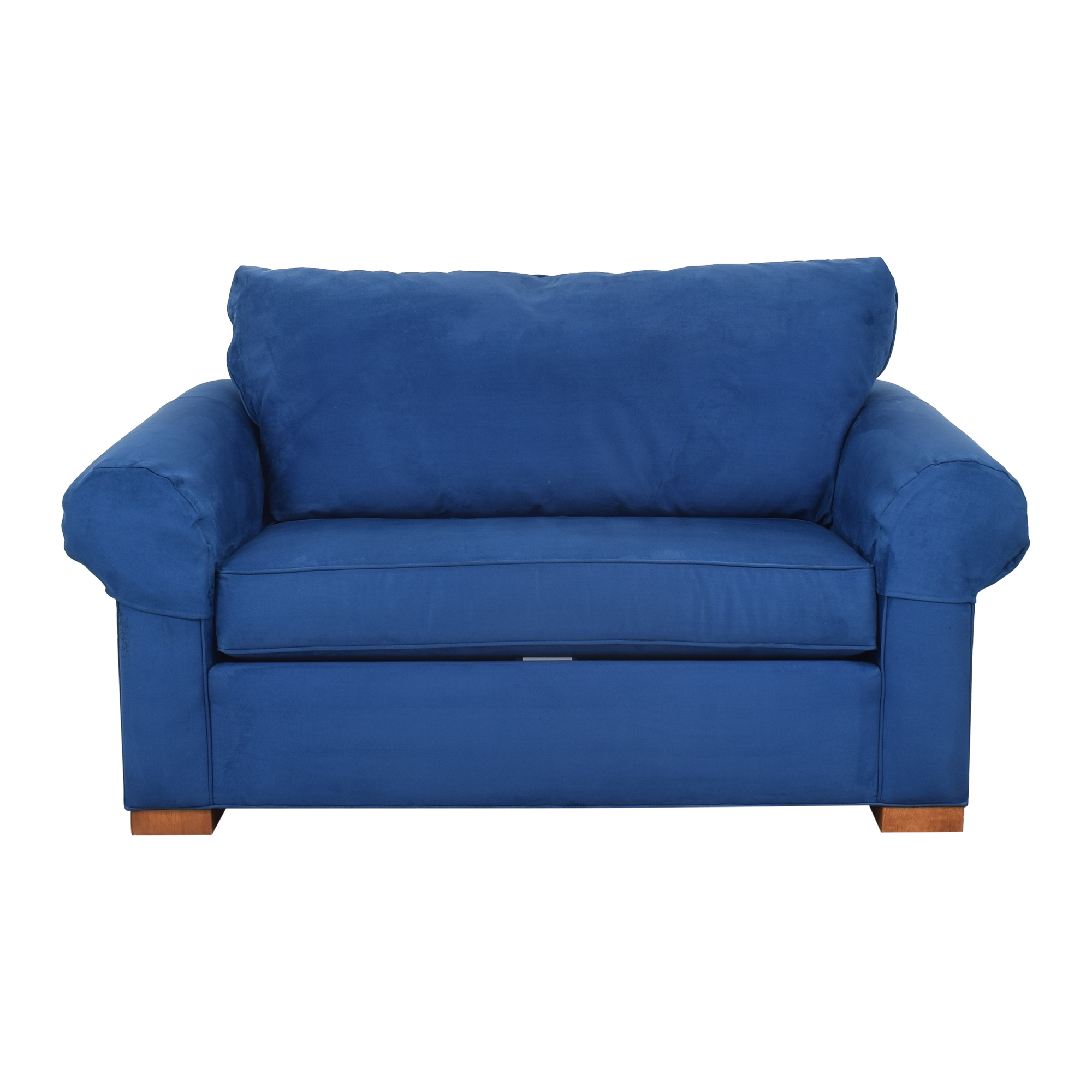 shop Ethan Allen Twin Sleeper Marina Chair with Ottoman Ethan Allen Chairs