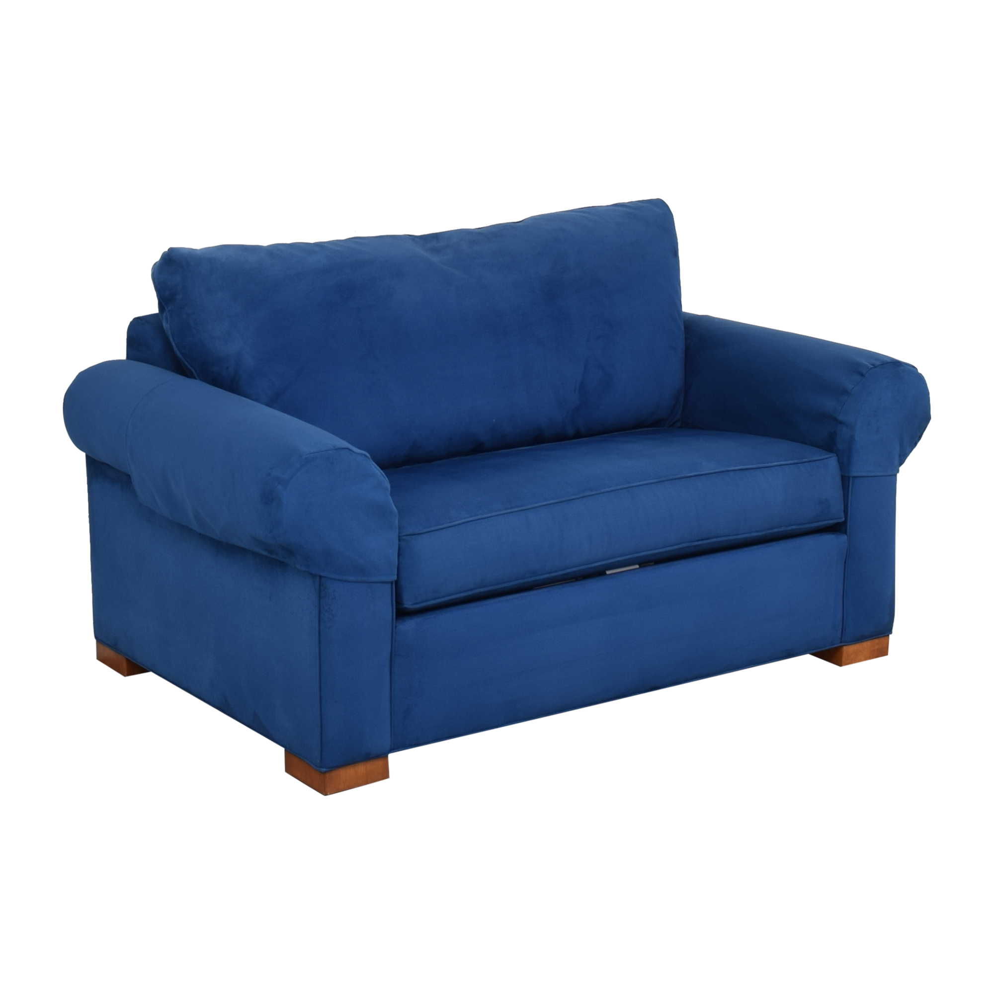 shop Ethan Allen Twin Sleeper Marina Chair with Ottoman Ethan Allen