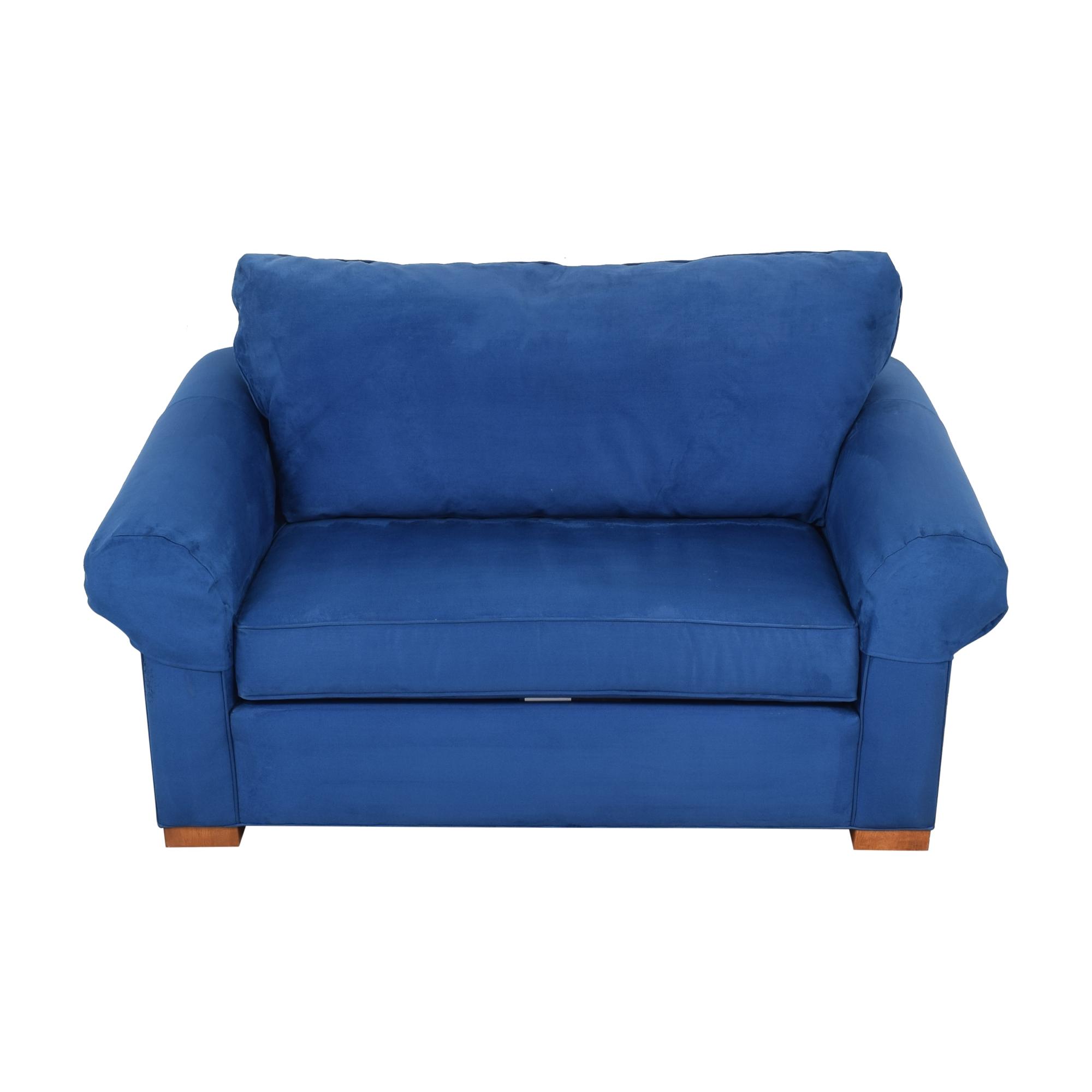 shop Ethan Allen Ethan Allen Twin Sleeper Marina Chair with Ottoman online