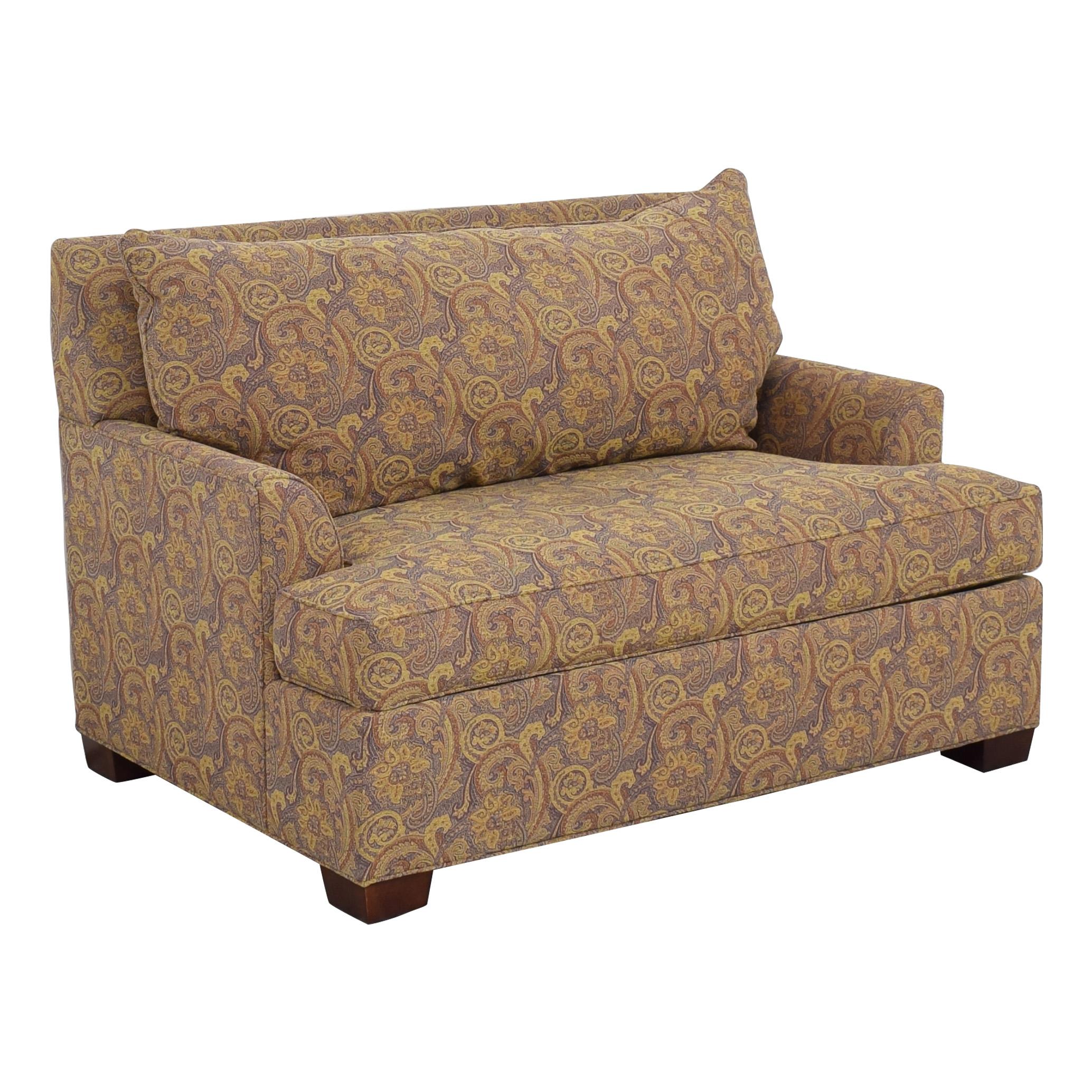 Ethan Allen Ethan Allen Marina Chair and a Half Twin Sleeper with Ottoman