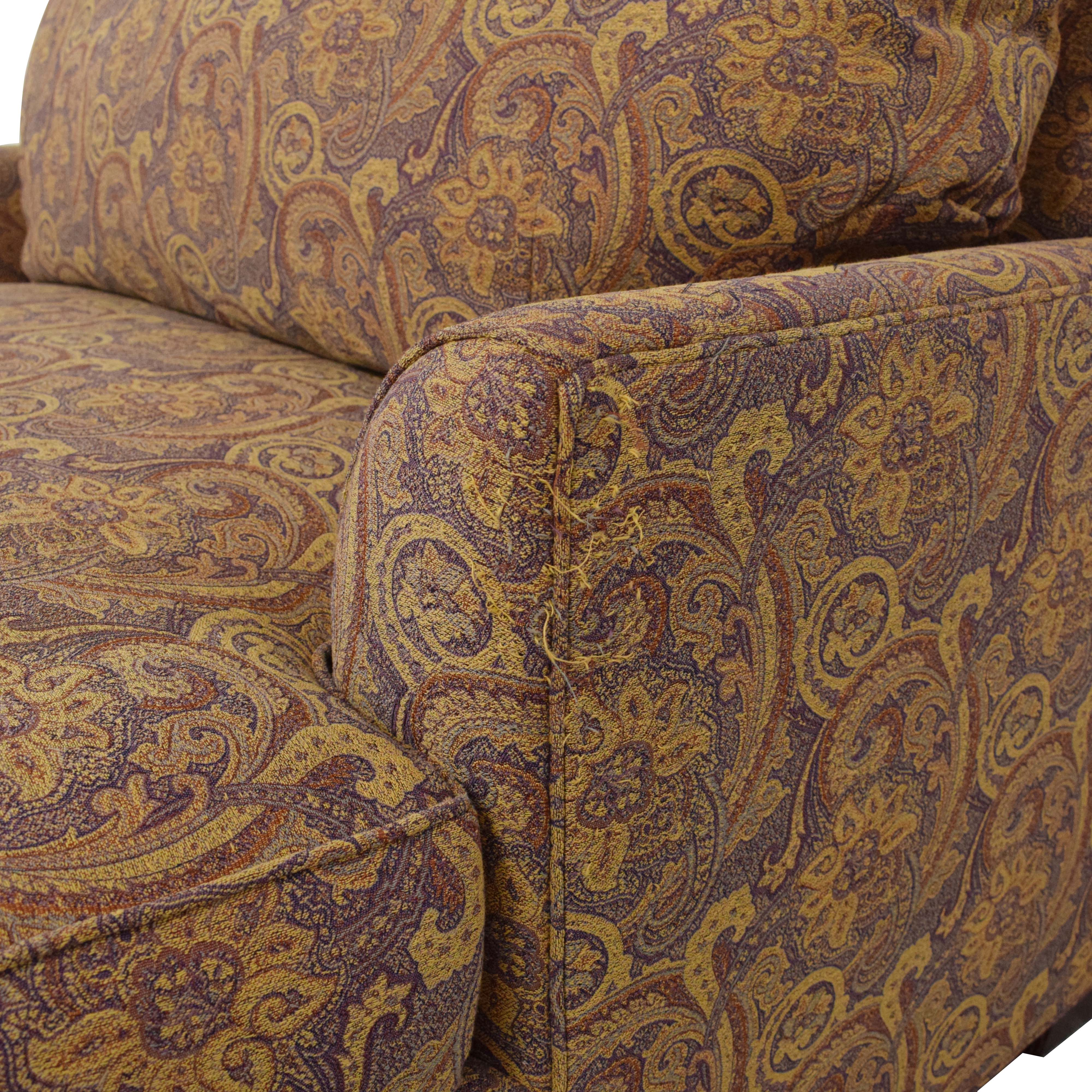 buy Ethan Allen Ethan Allen Marina Chair and a Half with Ottoman online