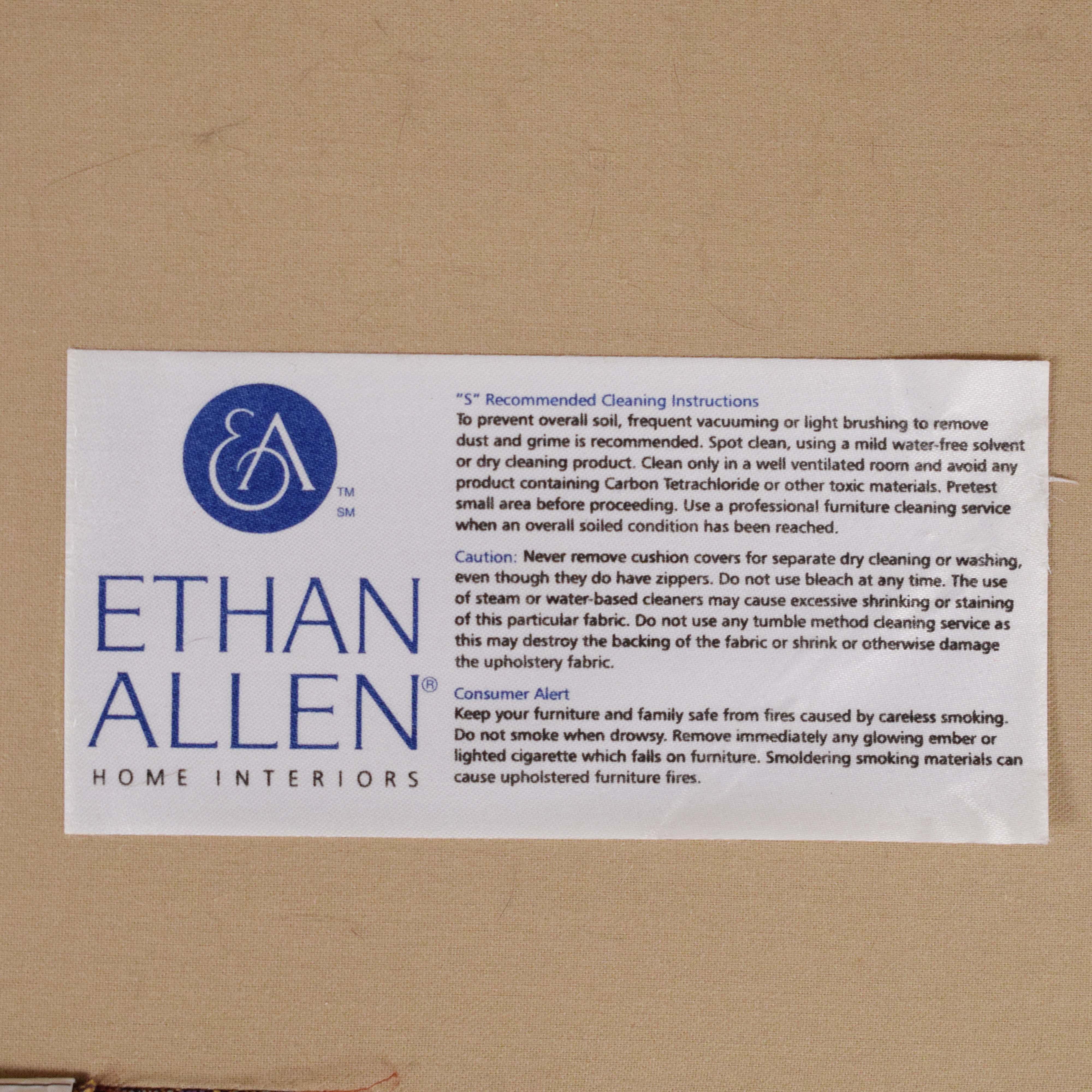buy Ethan Allen Marina Chair and a Half Twin Sleeper with Ottoman Ethan Allen