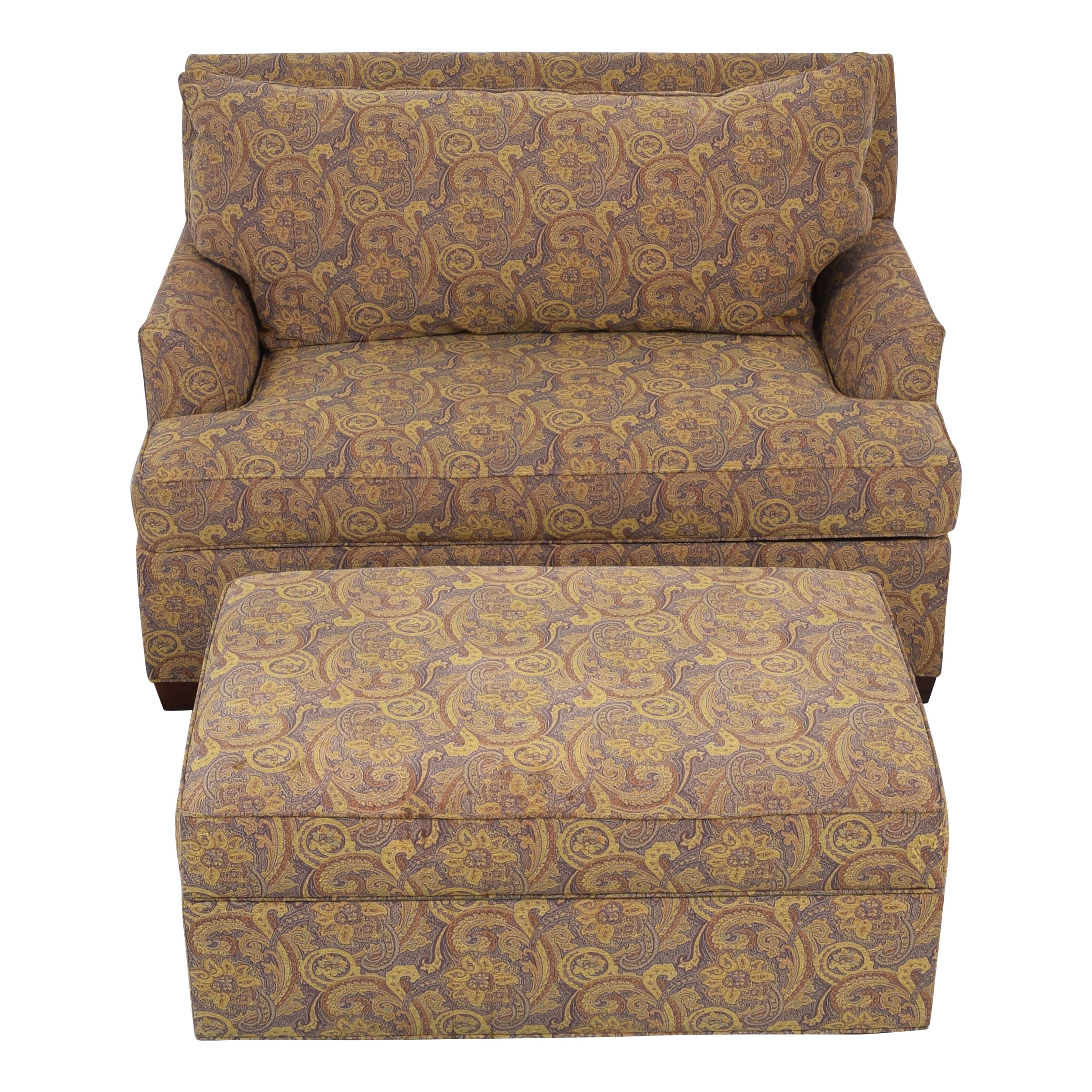 Ethan Allen Ethan Allen Marina Chair and a Half Twin Sleeper with Ottoman pa