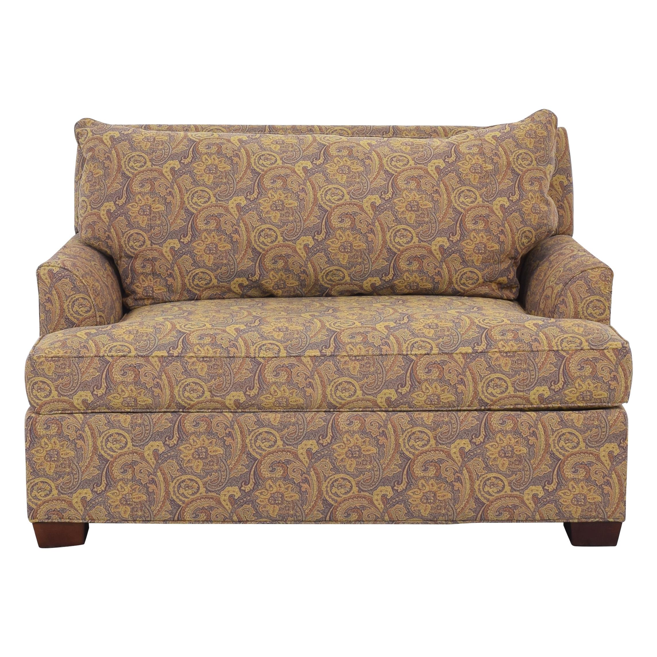 Ethan Allen Ethan Allen Marina Chair and a Half Twin Sleeper with Ottoman on sale