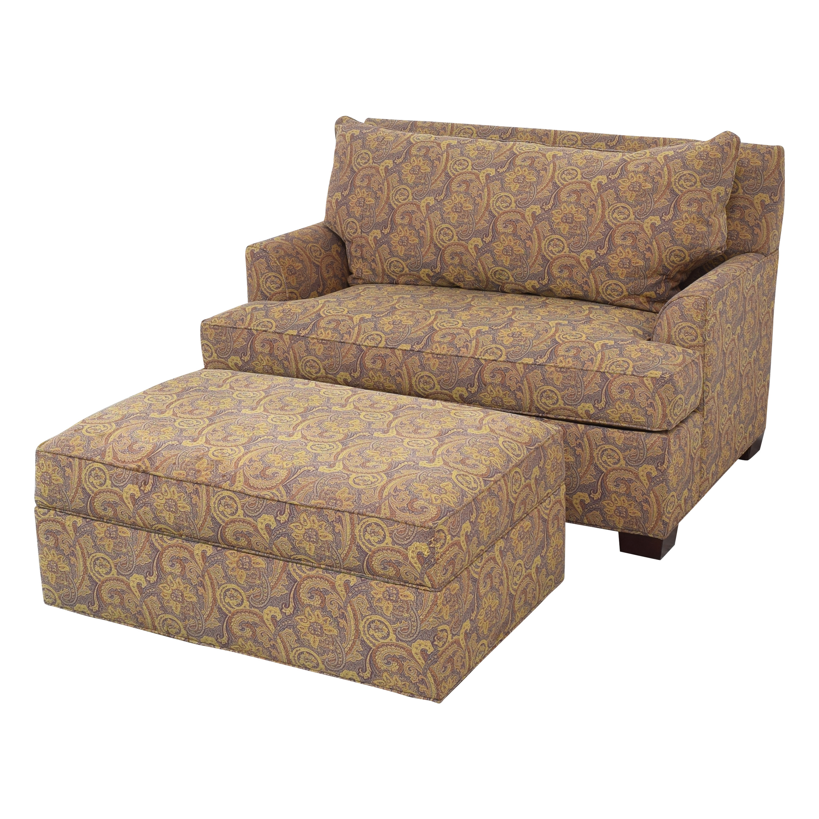 Ethan Allen Ethan Allen Marina Chair and a Half Twin Sleeper with Ottoman coupon