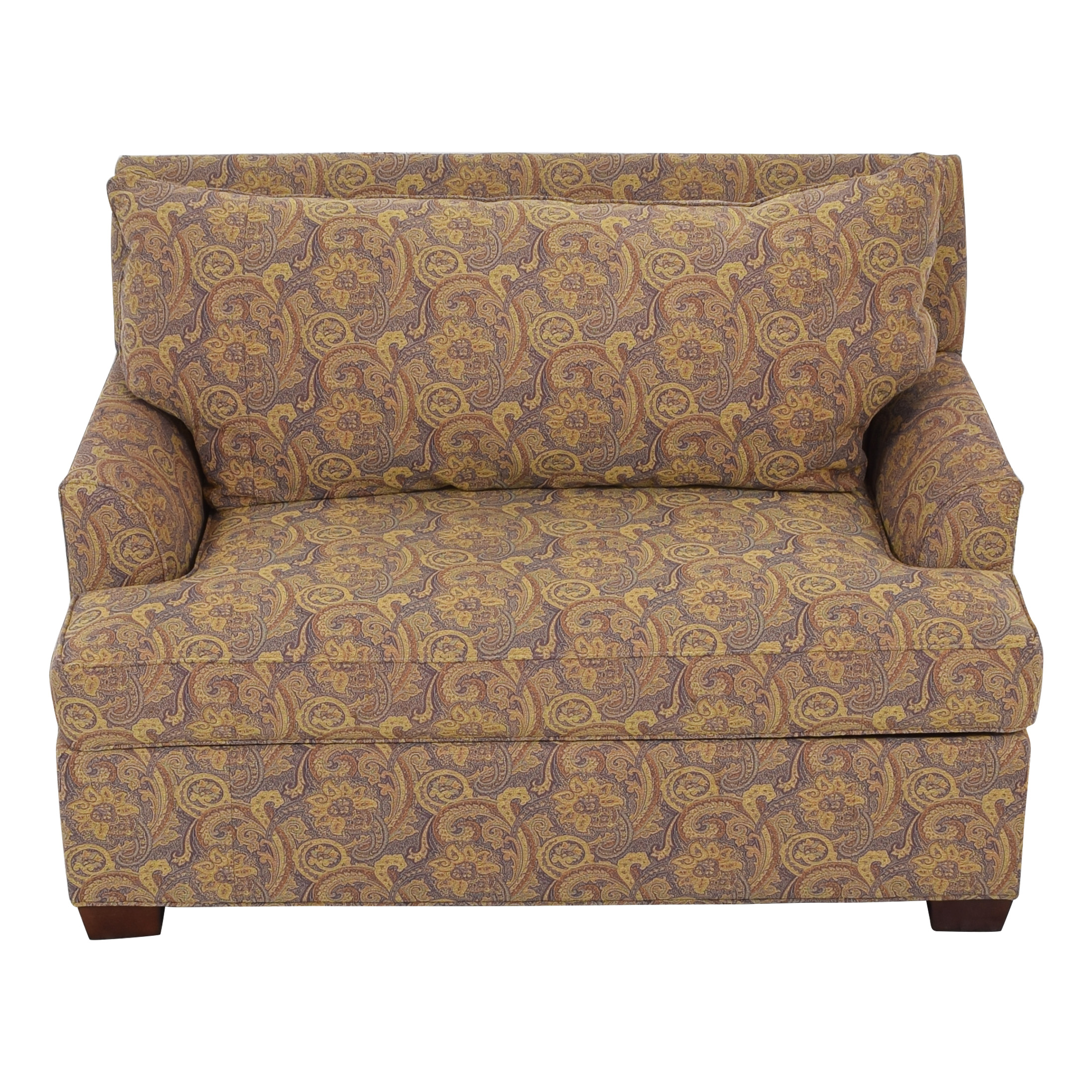 Ethan Allen Ethan Allen Marina Chair and a Half Twin Sleeper with Ottoman dimensions